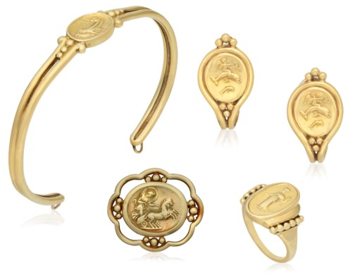 Helen Woodhull Group Of Gold Jewelry