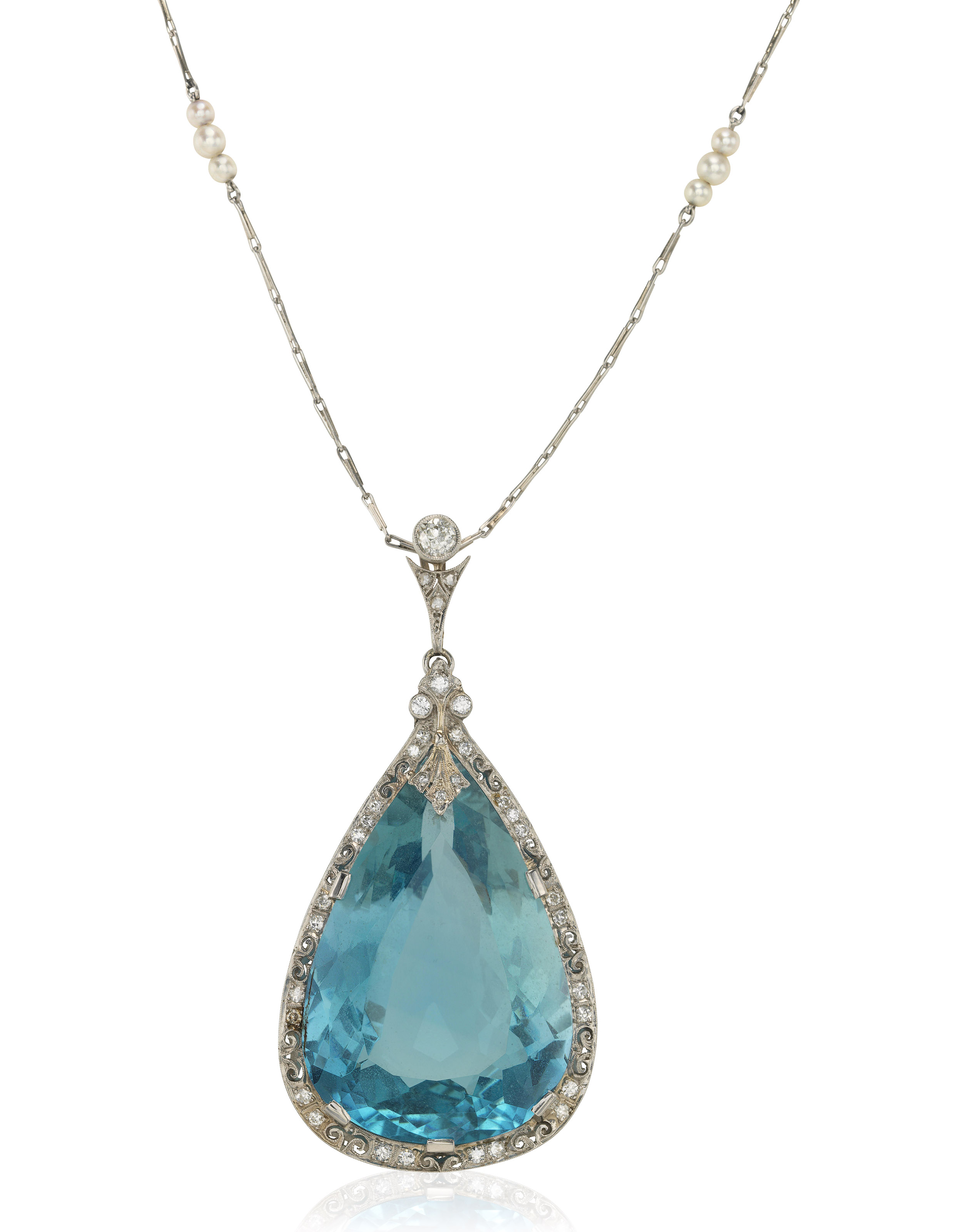 marine designs kayelle necklace aquamarine aqua products pendant