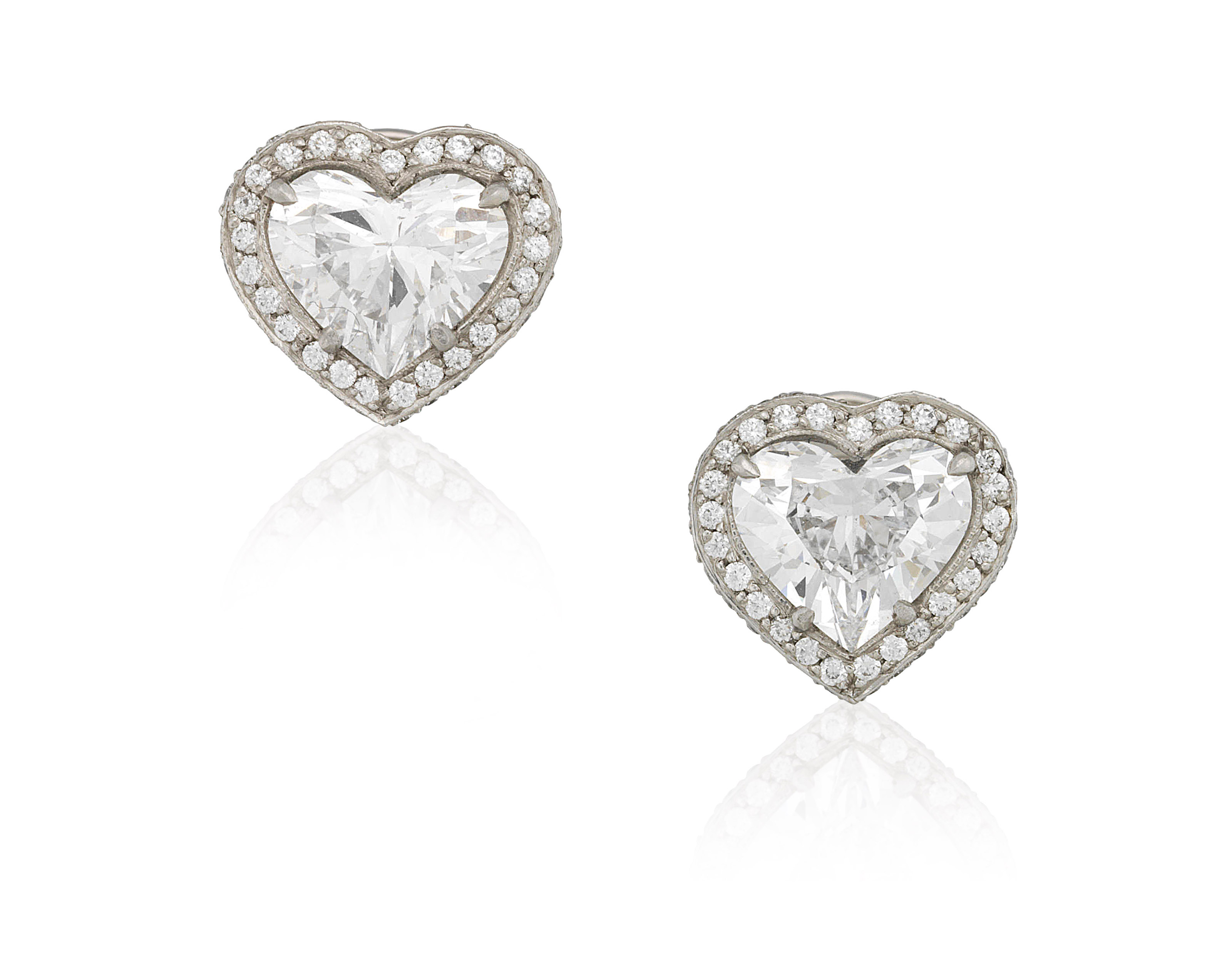 at shape heart stud earrings sale platinum halo id shaped diamond amp jewelry j l gia for