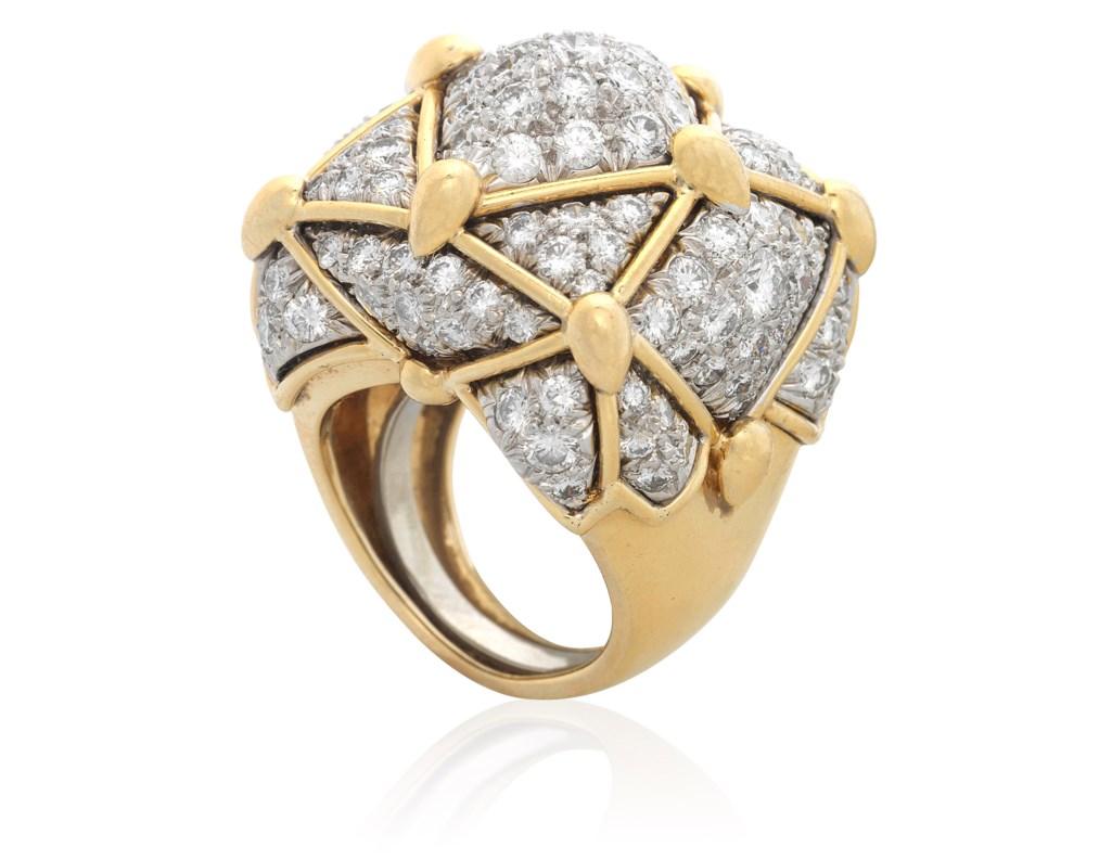 DAVID WEBB DIAMOND SET RING