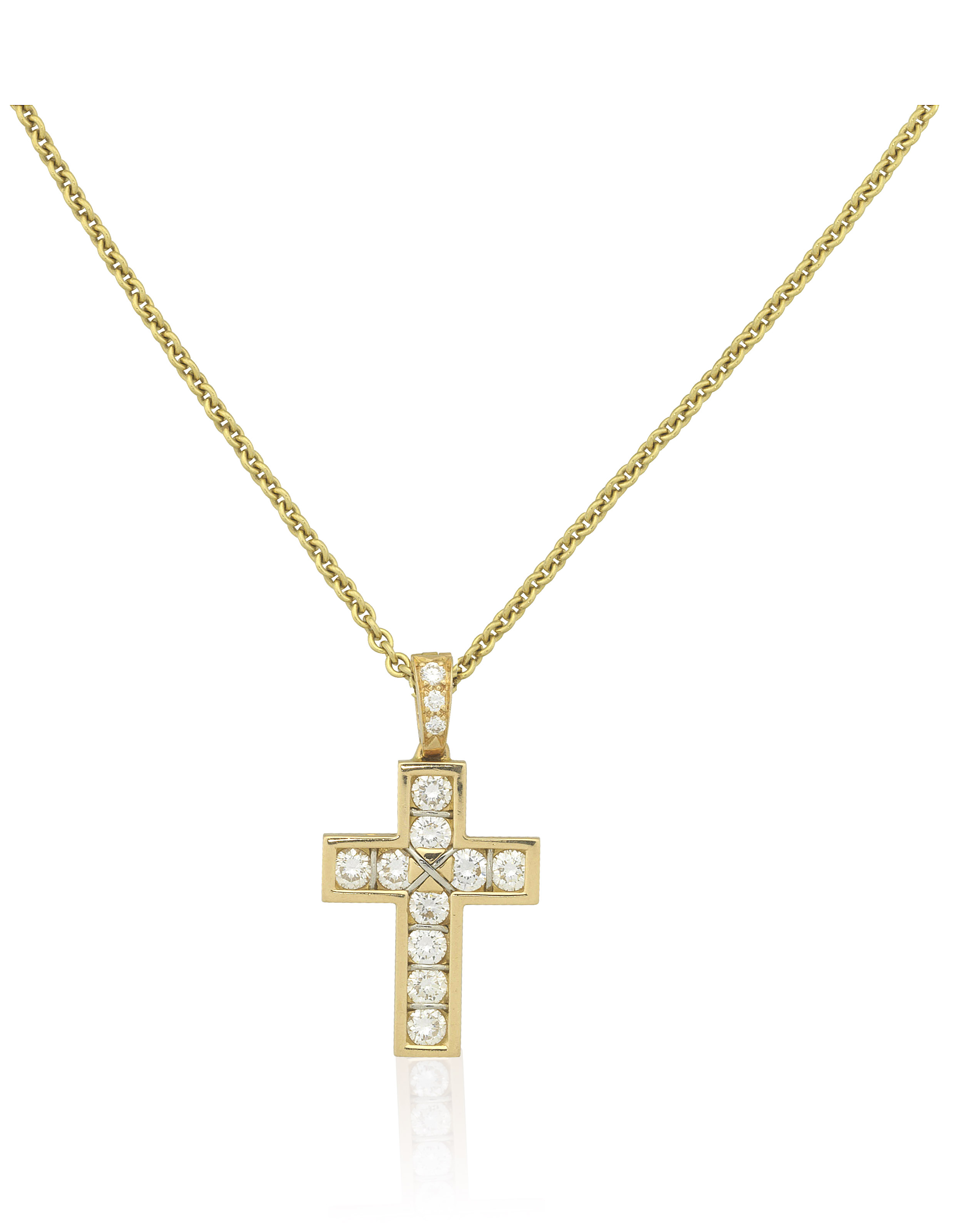 Cartier diamond cross pendant christies cartier diamond cross pendant cartier diamond cross pendant aloadofball Images