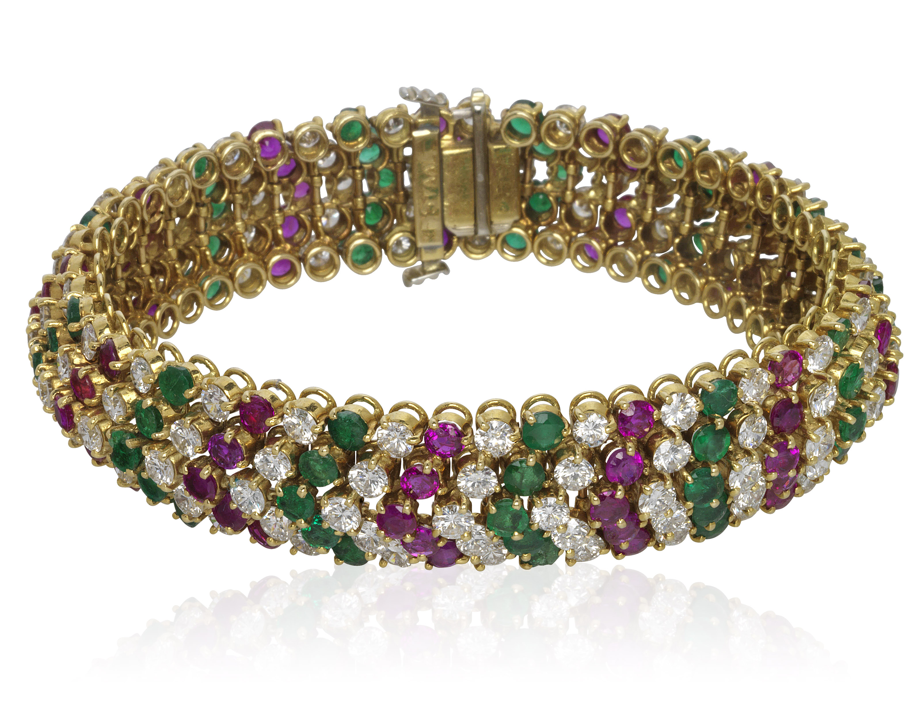 emerald diamond bracelet baguette