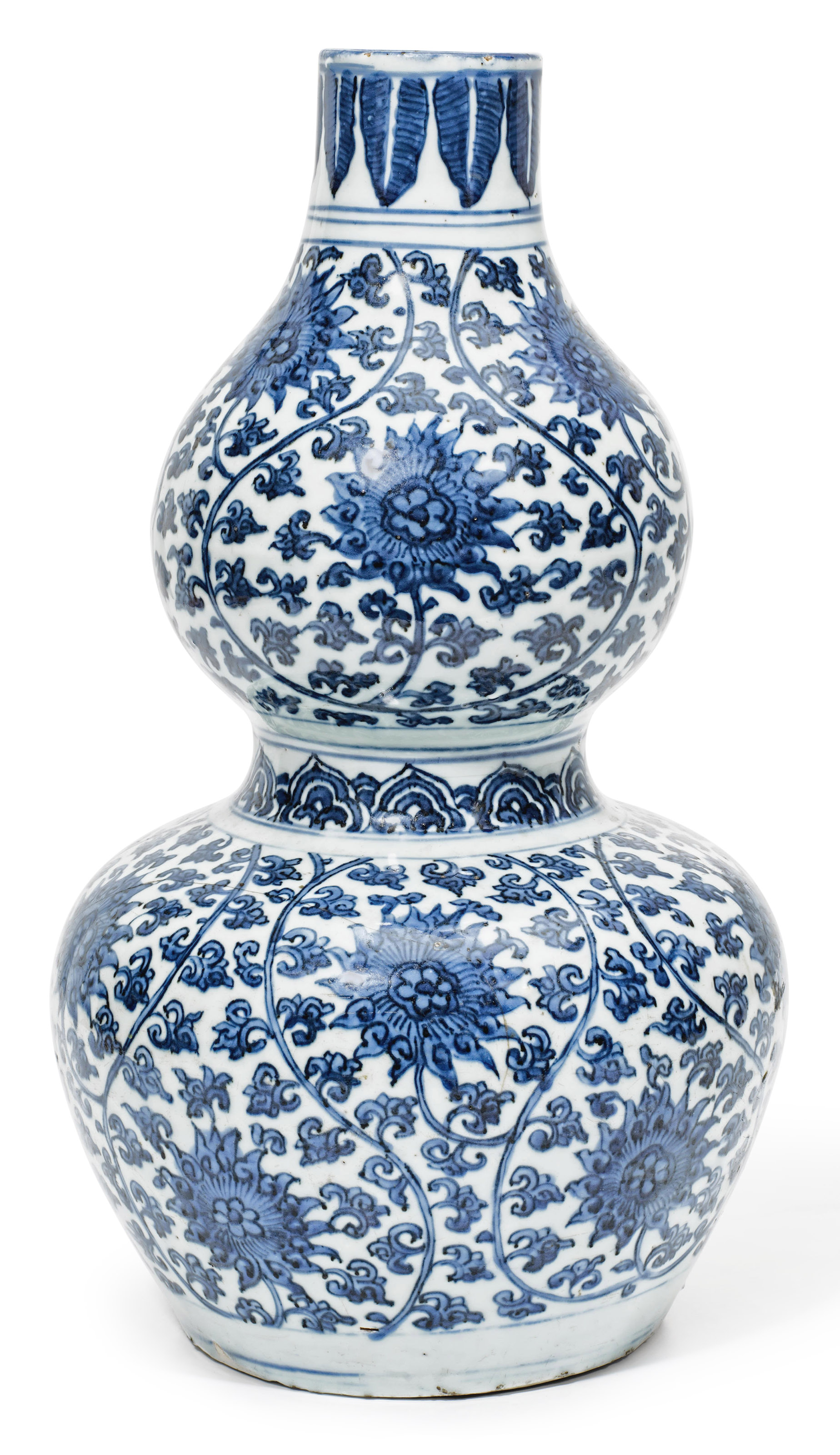 A blue and white double gourd lotus vase jiajing period 1522 a blue and white double gourd lotus vase reviewsmspy