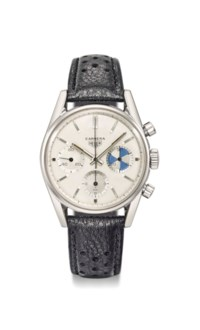 Heuer. A fine and rare stainless steel chronograph wristwatch