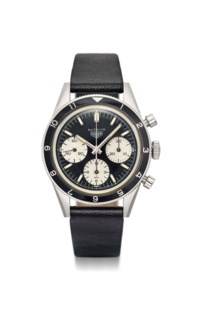 Heuer. A very rare and fine stainless steel chronograph wristwatch