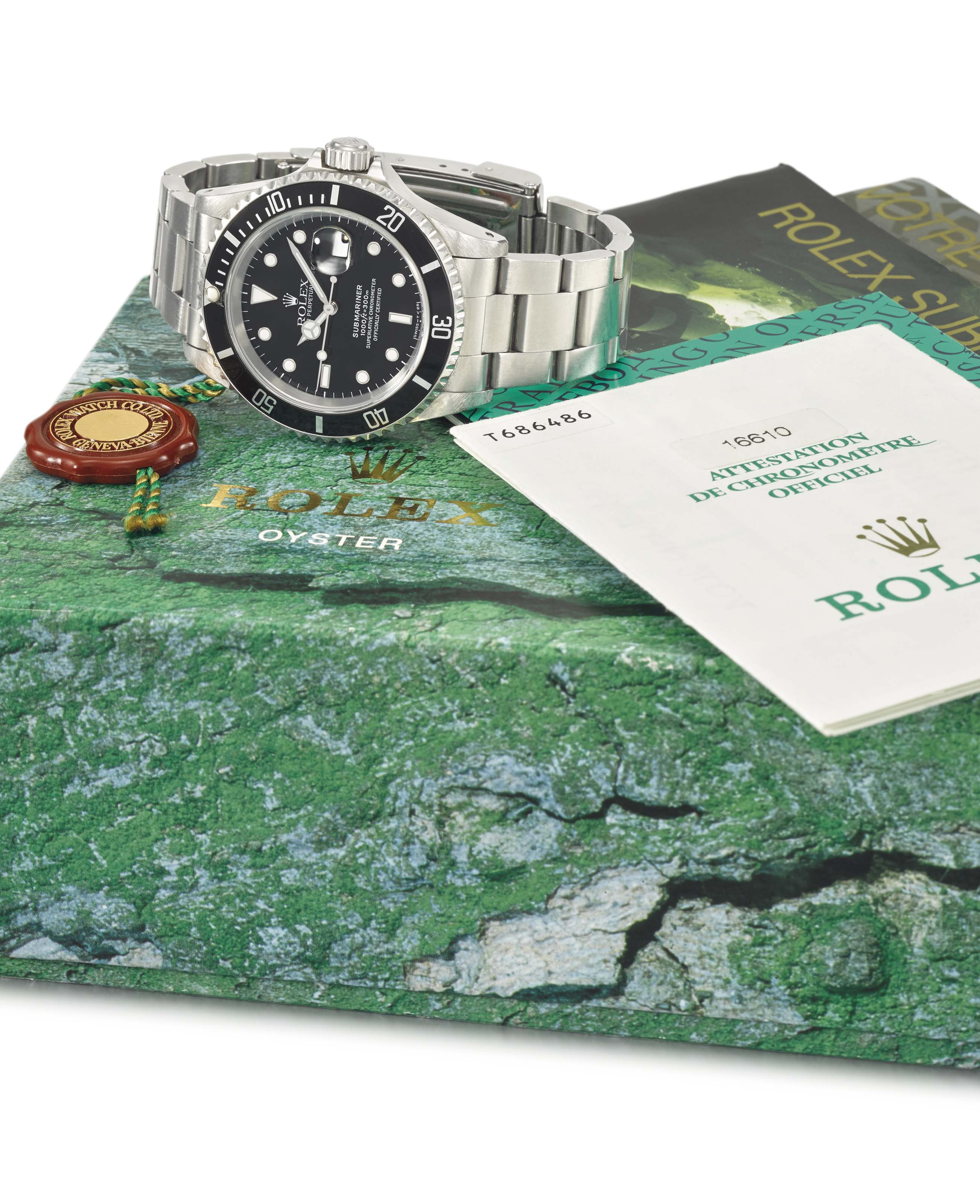 """Rolex. A fine and extremely rare stainless steel automatic wristwatch with sweep centre seconds, date, engraved case back, bracelet, """"Operation Everest"""" documentation, box and Guarantee. Made for the Comex """"Operation Everest"""" experiment"""
