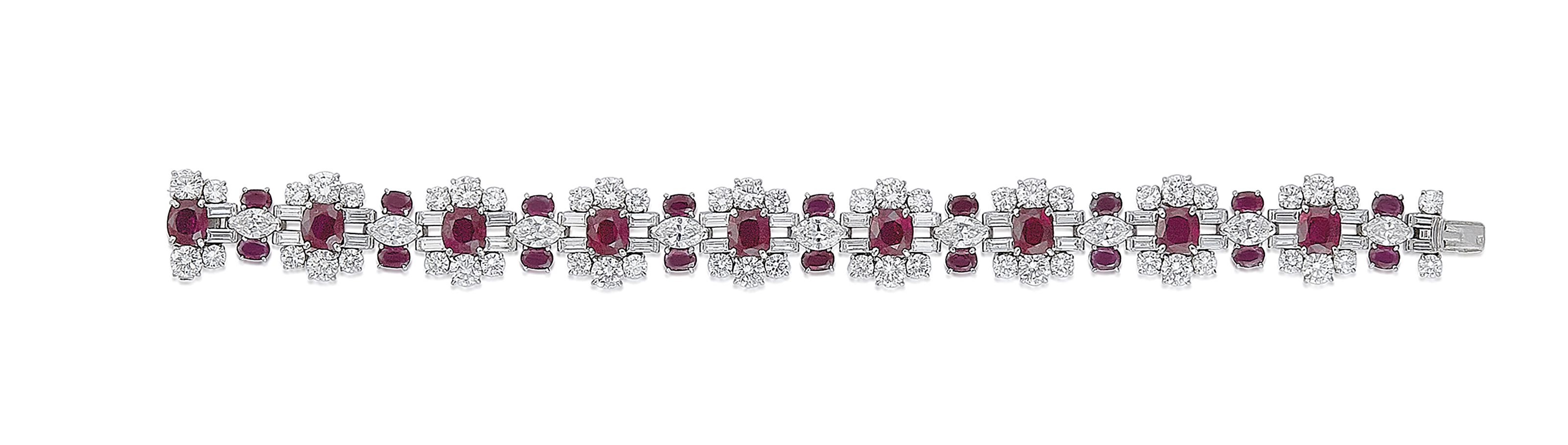 diamond white gold jewellers austen product ruby bracelet