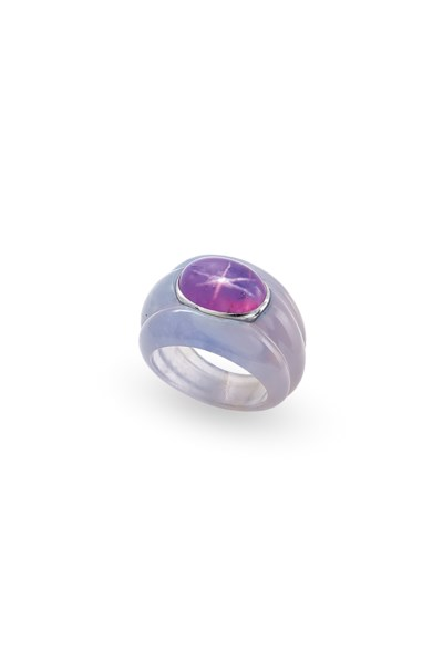 A COLOURED STAR SAPPHIRE AND C