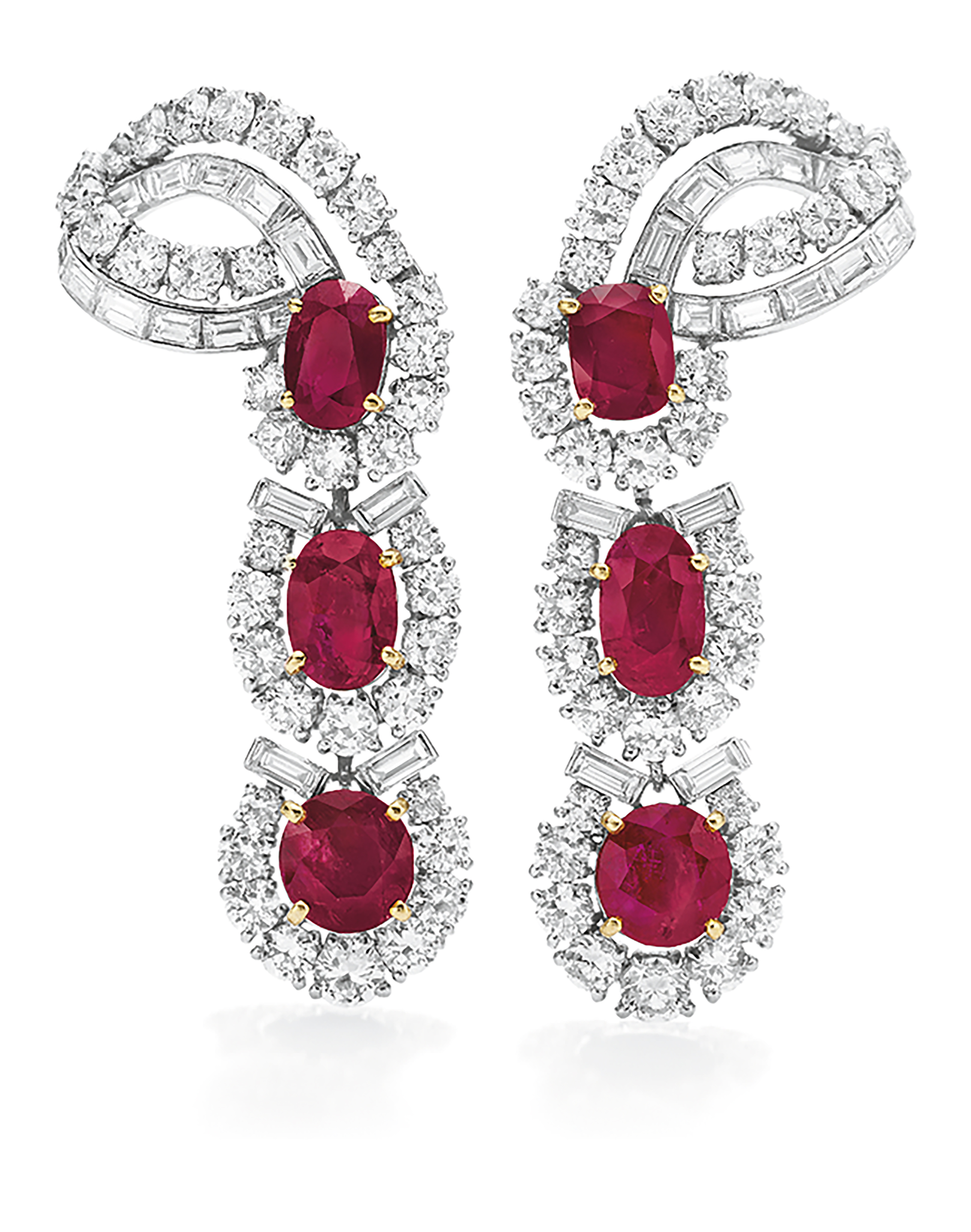 buy online earrings diamond daamak original jhumka american designs designers and ruby
