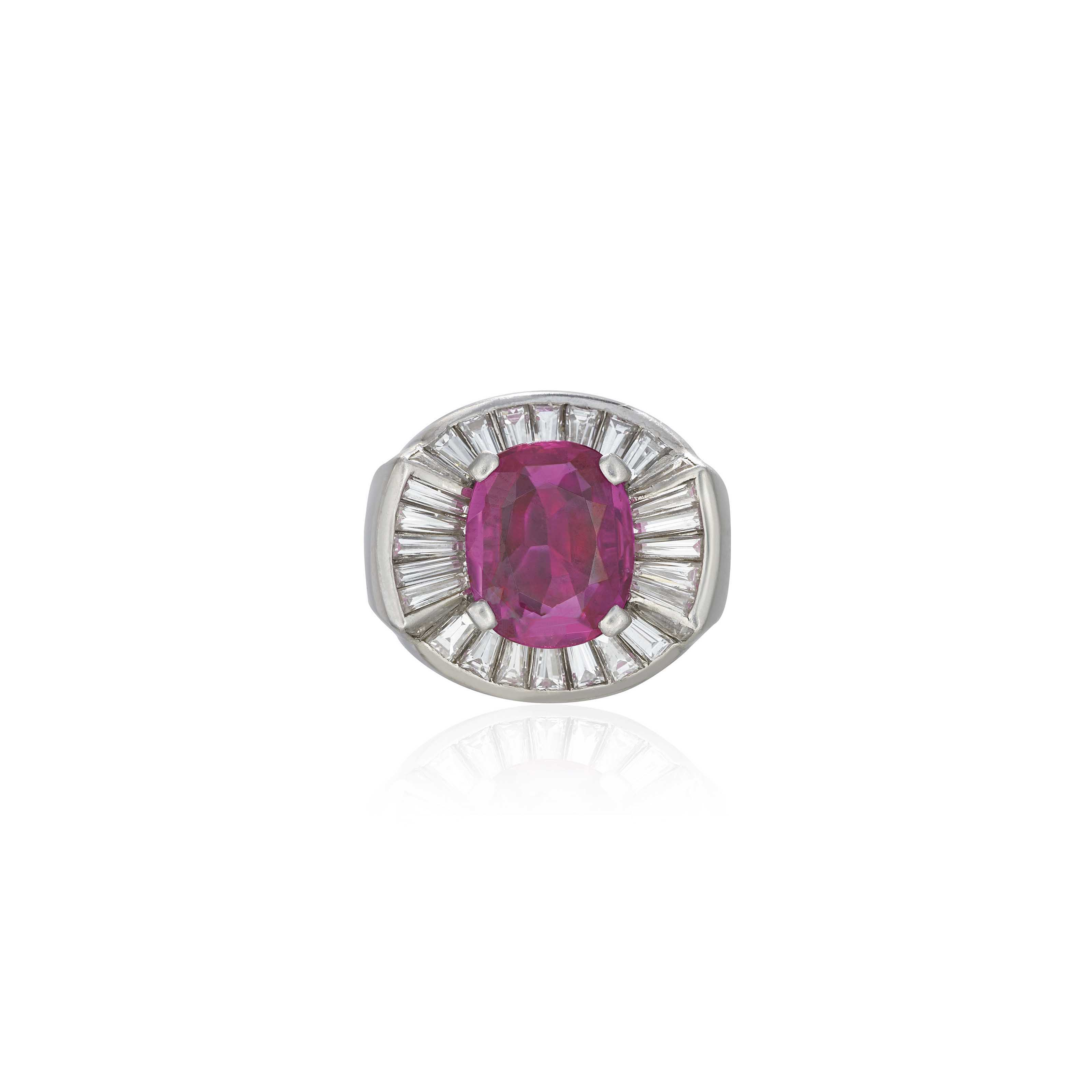 A Coloured Sapphire And Diamond Ring By G 220 Belin Christie S