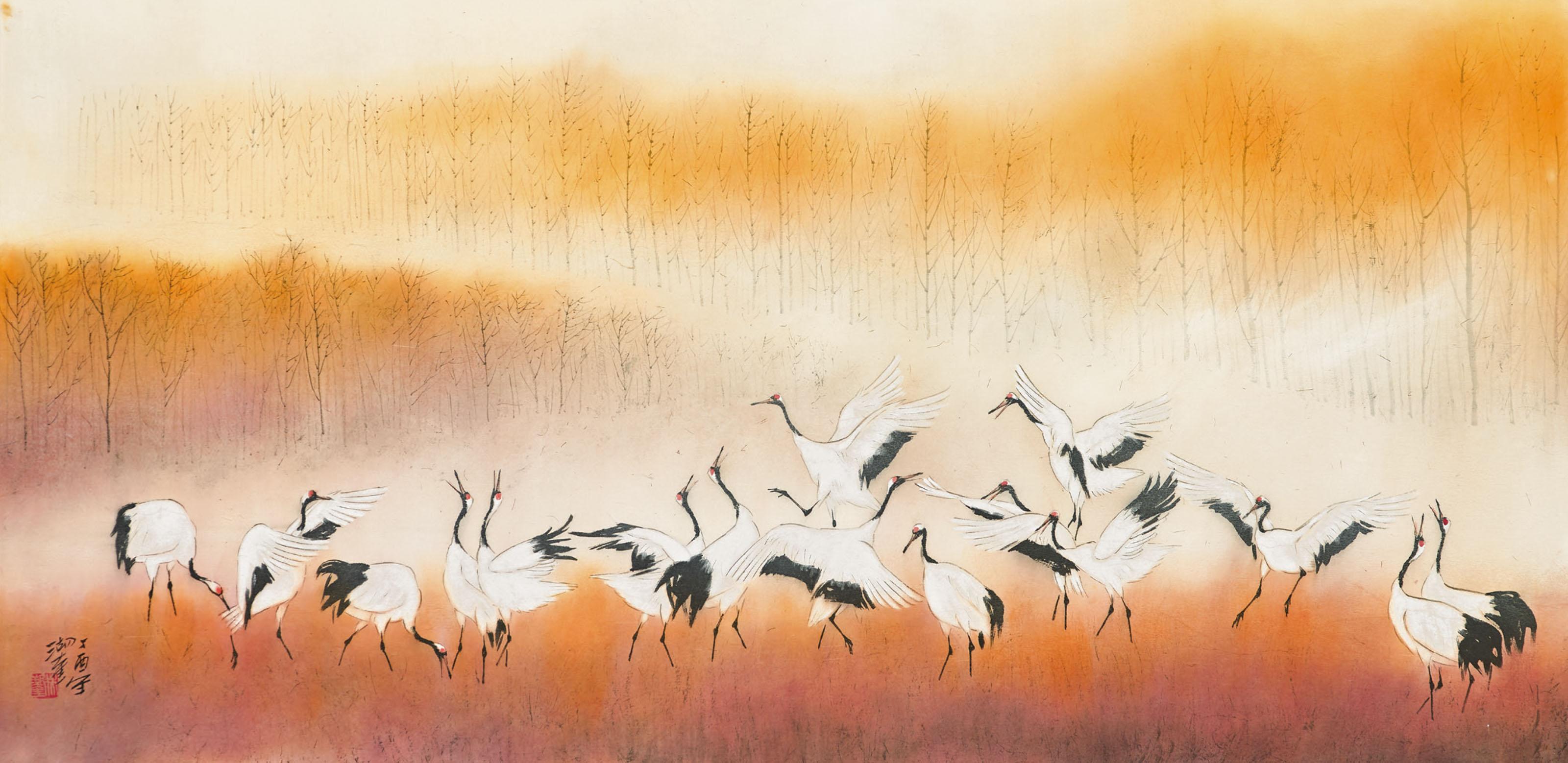 Cranes Dancing