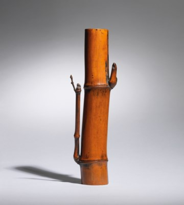 A DRIED-BAMBOO VASE