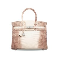 AN EXCEPTIONAL, MATTE WHITE NILOTICUS CROCODILE HIMALAYA BIRKIN 30 WITH 18K WHITE GOLD & DIAMOND HARDWARE