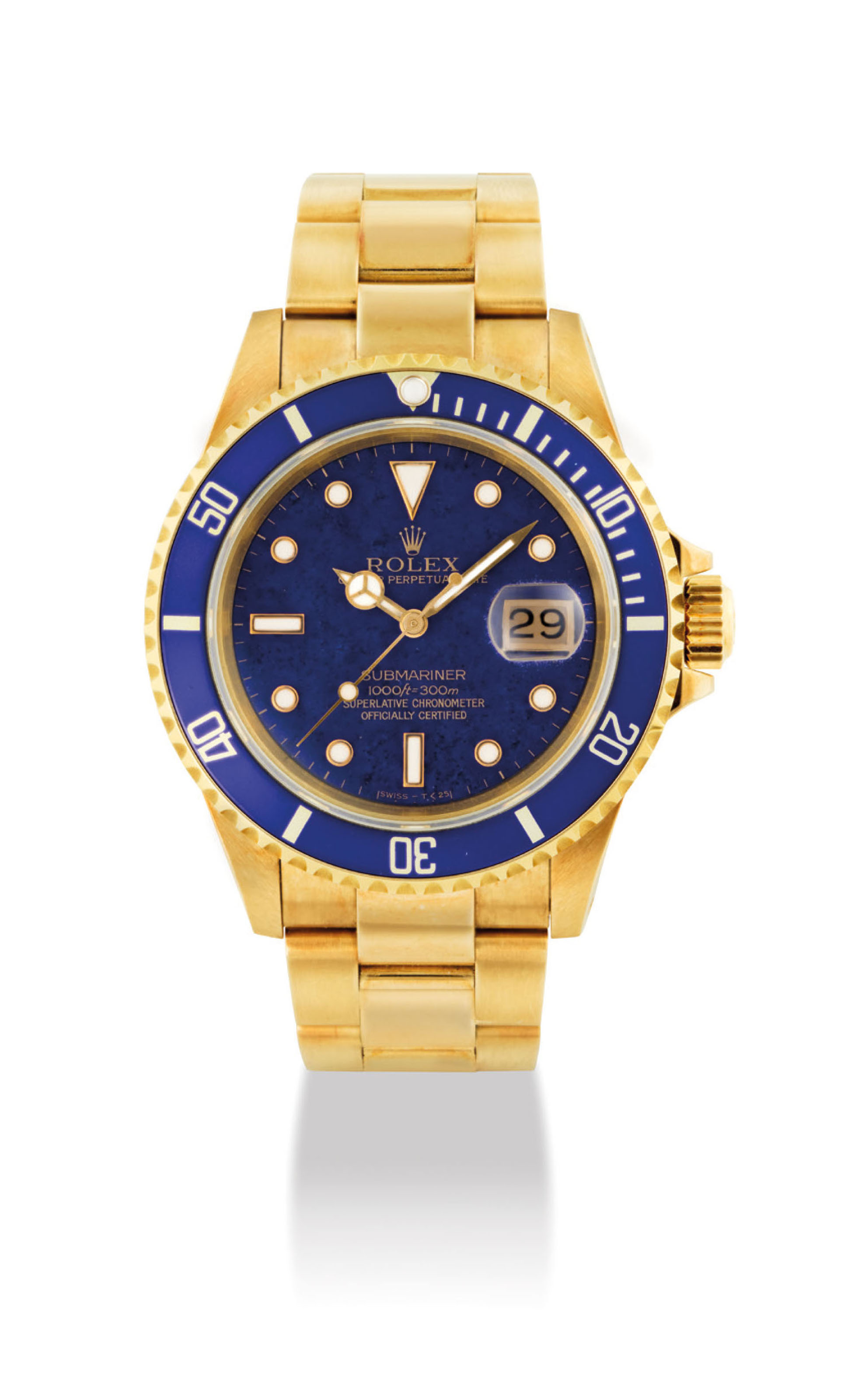 ROLEX A VERY FINE AND VERY RARE 18K GOLD AUTOMATIC WRISTWATC...