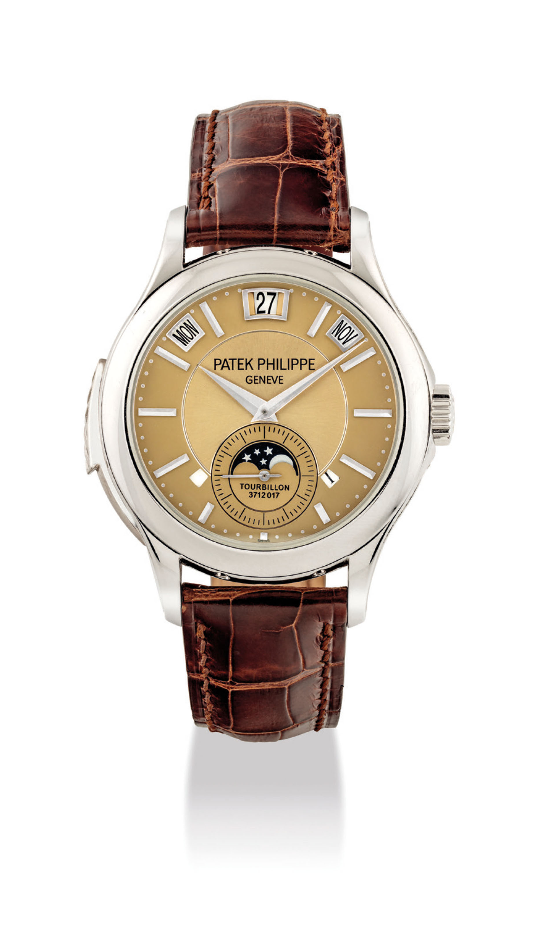 Patek philippe a very fine and extremely rare platinum minute repeating instantaneous perpetual for Patek philippe geneve