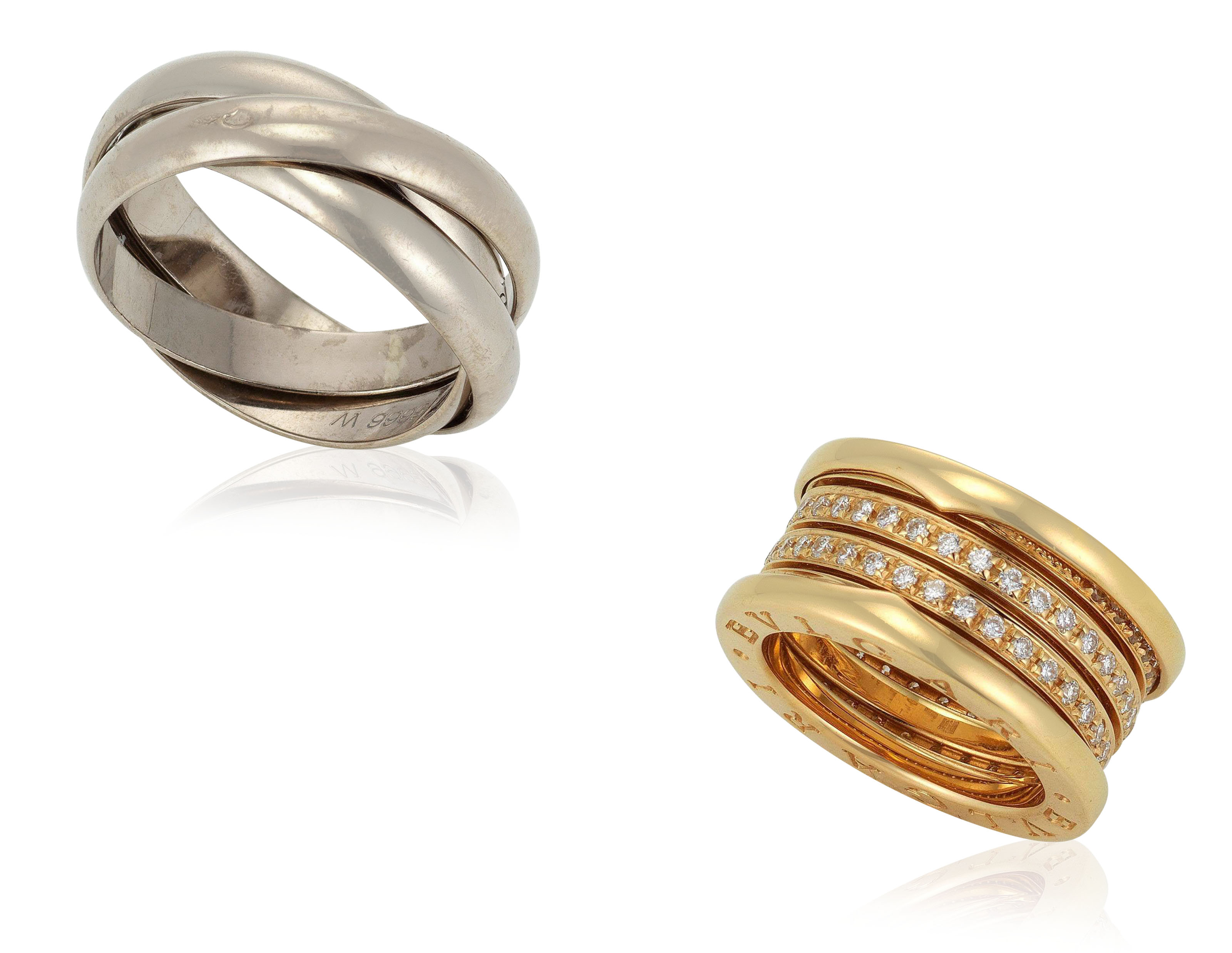 gold trinity rings en ring cartier