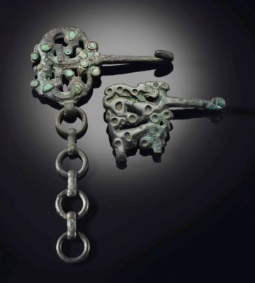 TWO BRONZE 'ANIMAL' OPENWORK B
