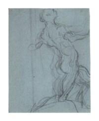 A kneeling male nude