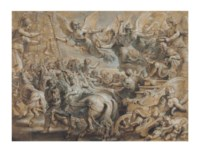 Scipio Africanus welcomed outside the gates of Rome, after Giulio Romano