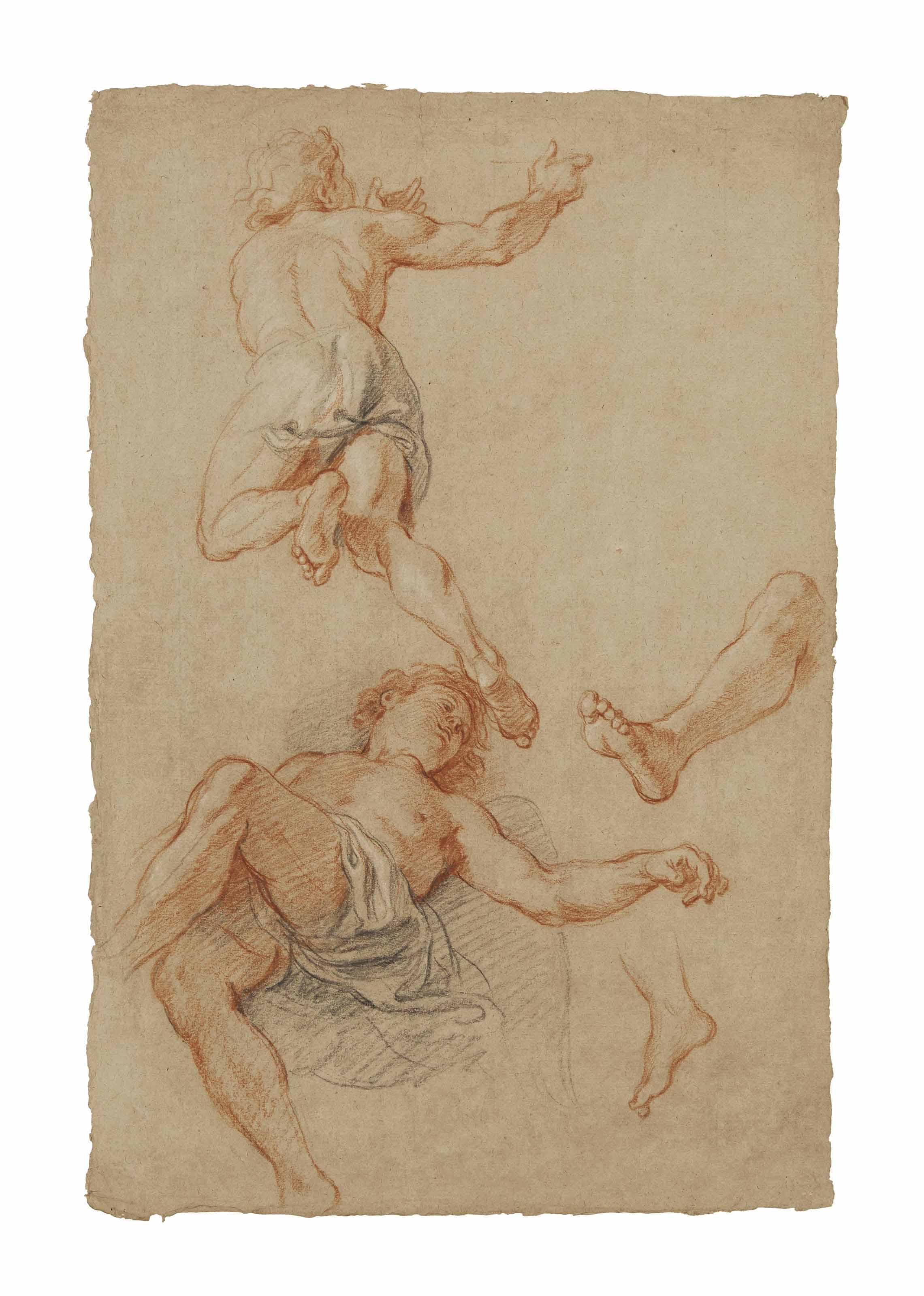 Study of two angels and two feet