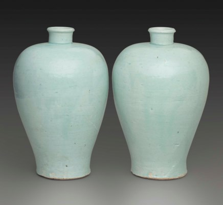 A PAIR OF QINGBAI VASES, MEIPI