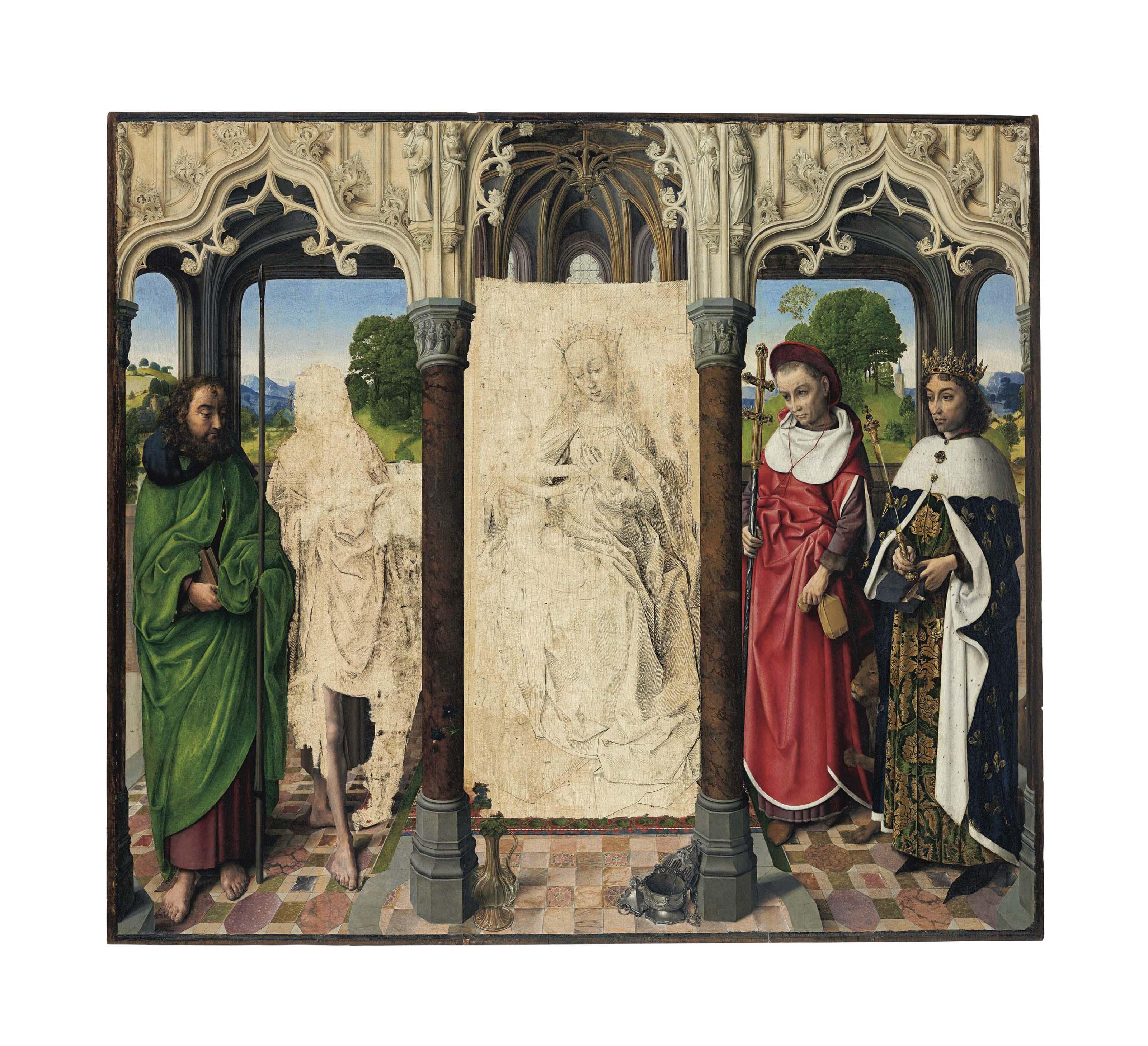 Attributed to Hugo van der Goes (Ghent c. 1440-1482 Rode Klooster, near Brussels)