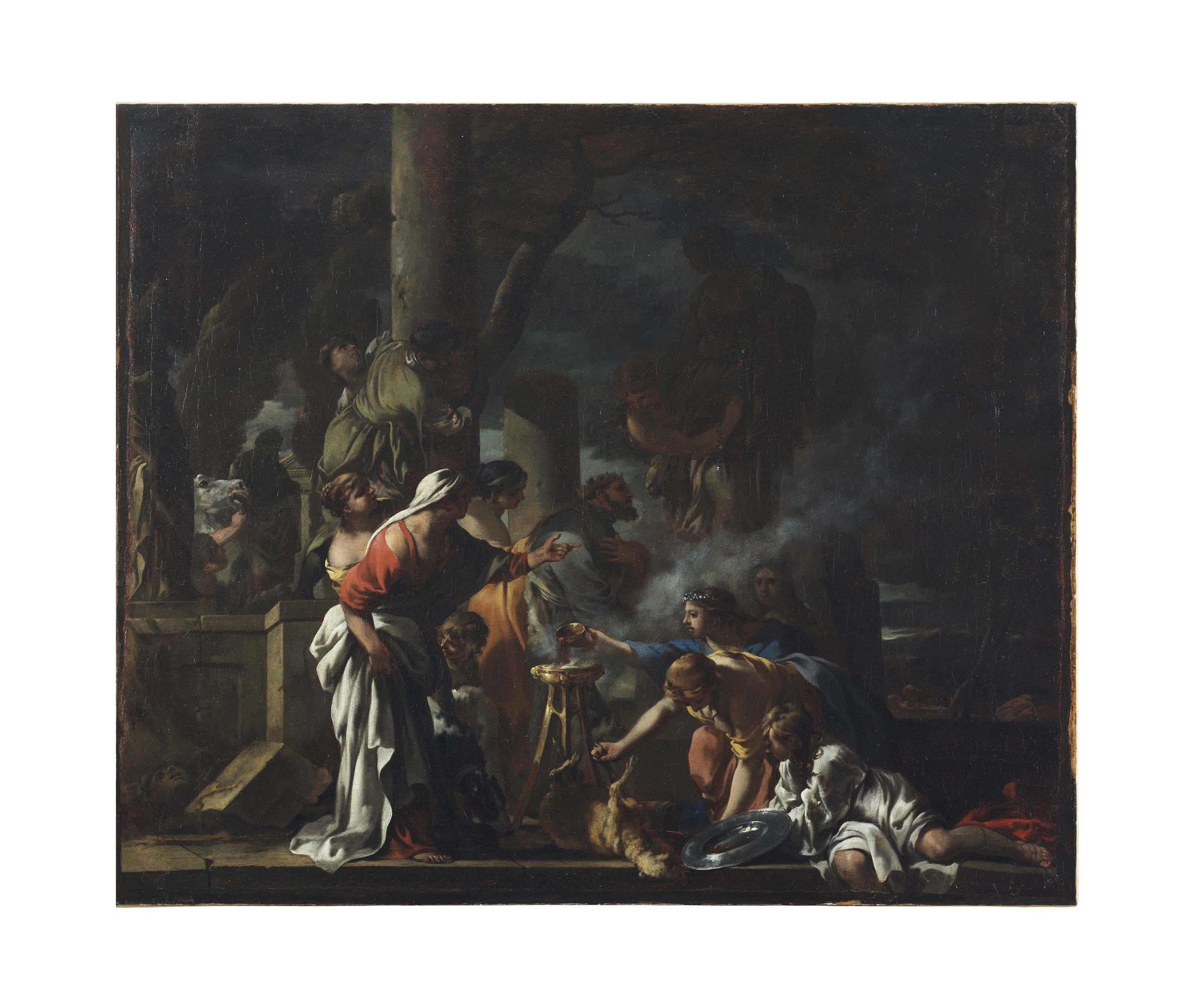 King Solomon Sacrificing to the Idols