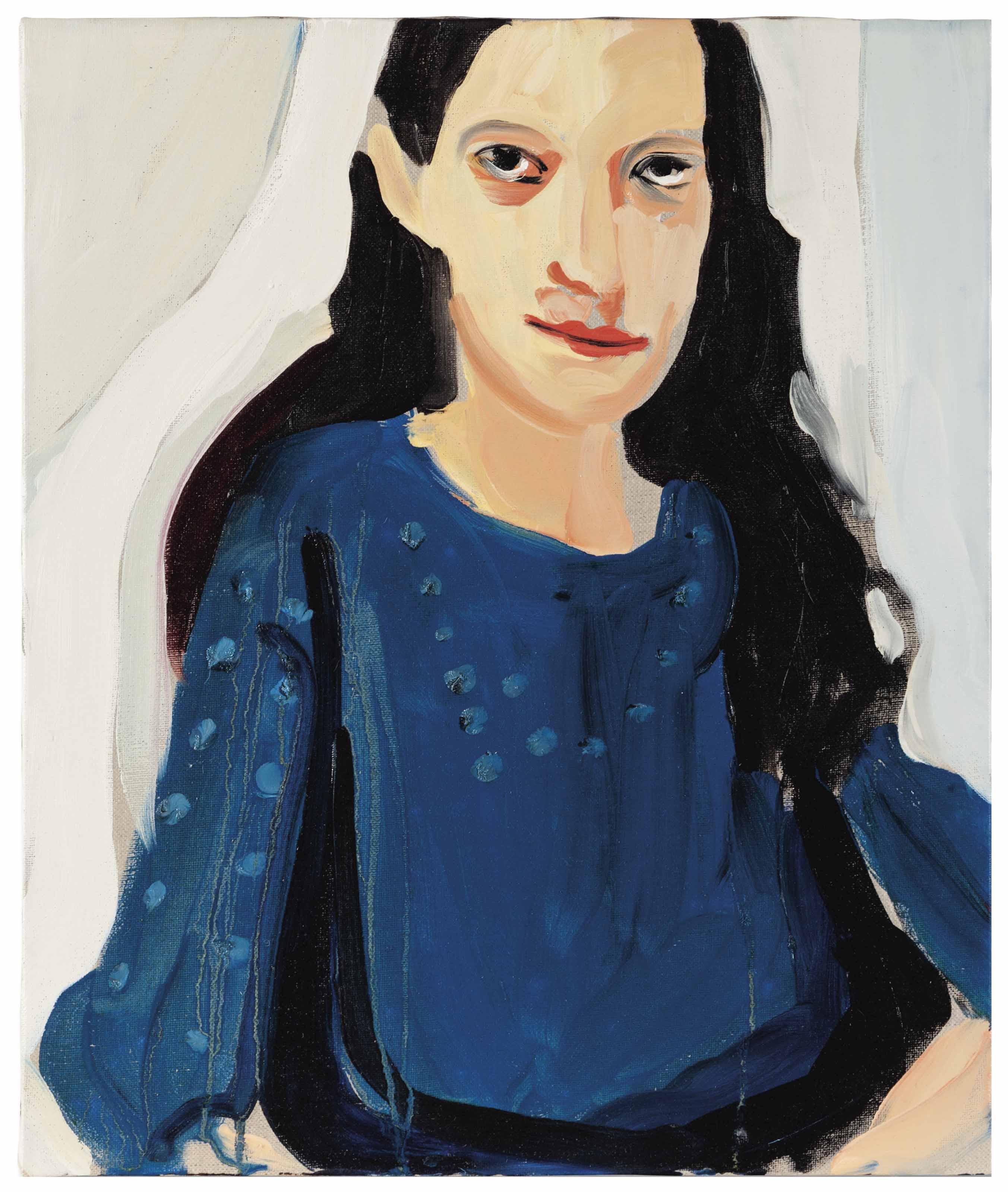 Marcella in a Blue Dress