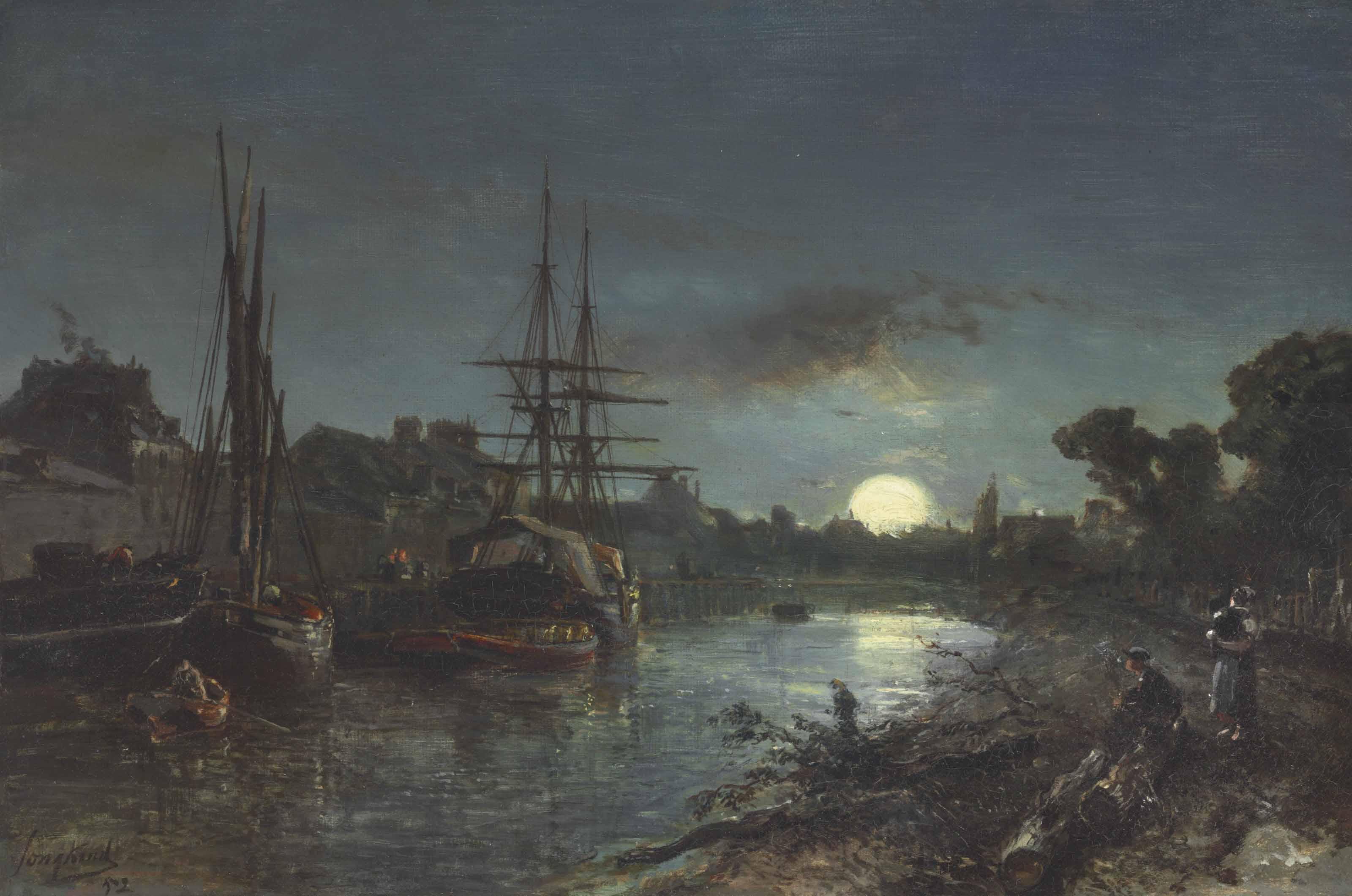 Claire de lune aux environs de Paris