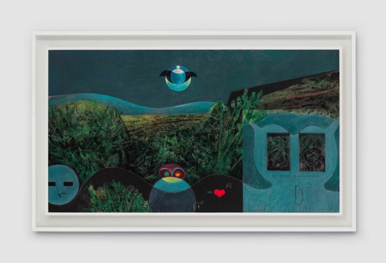 Max Ernst (1891-1976) The Phases of the Night, 1946. Oil on canvas. 35⅞ x 63⅞ in (91.3 x 162.4 cm). Sold for $6,407,500 on 15 May 2017 at Christies in New York. Artwork © Max Ernst, DACS 2021