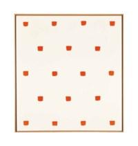 Empreintes de pinceau nº 50 répétées à intervalles régulieres (30 cm.)