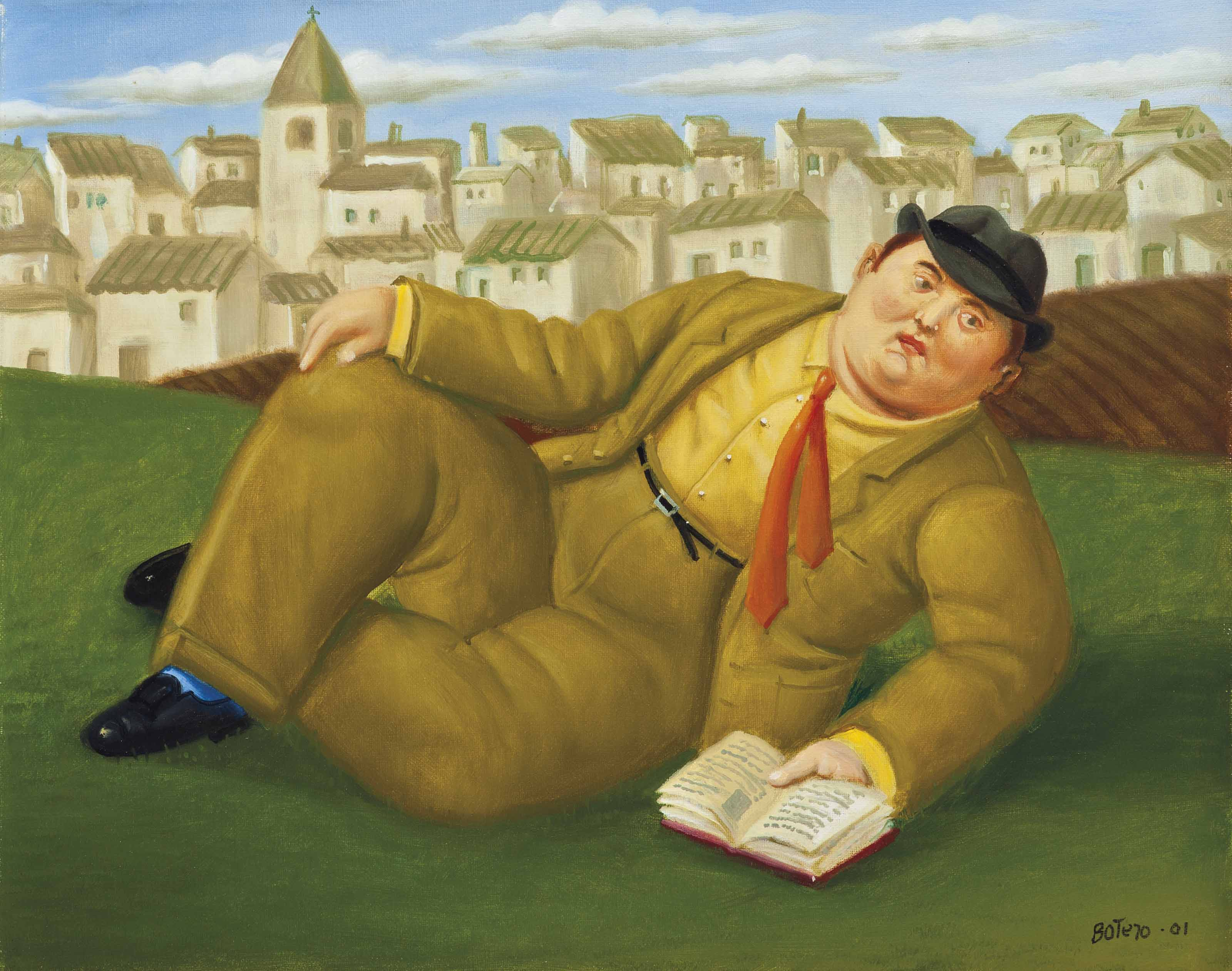 Fernando Botero (b. 1932) | Man with a Book | 2000s, Paintings | Christie's