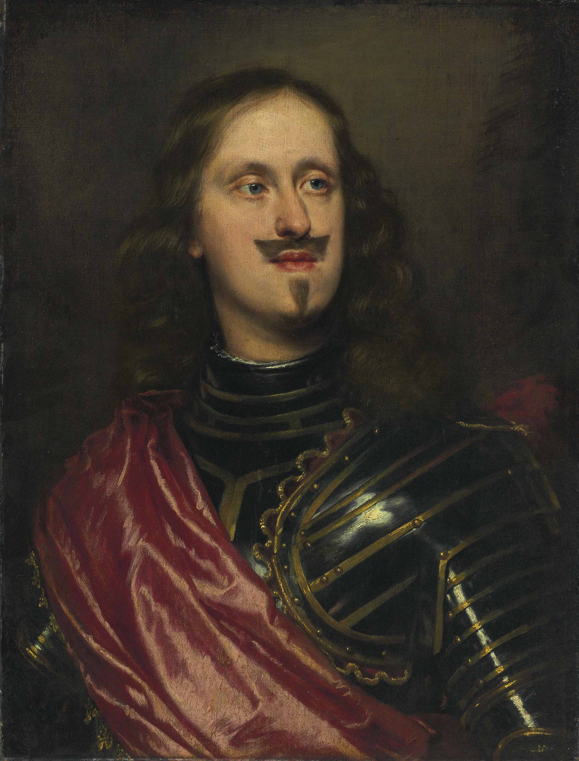 Giovan Carlo di Cosimo II de Medici (1611-1663), in armor and a red sash, bust-length