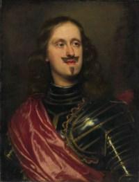 Giovan Carlo di Cosimo II de Medici (1611-1663), in armor and a red sash, bust-length