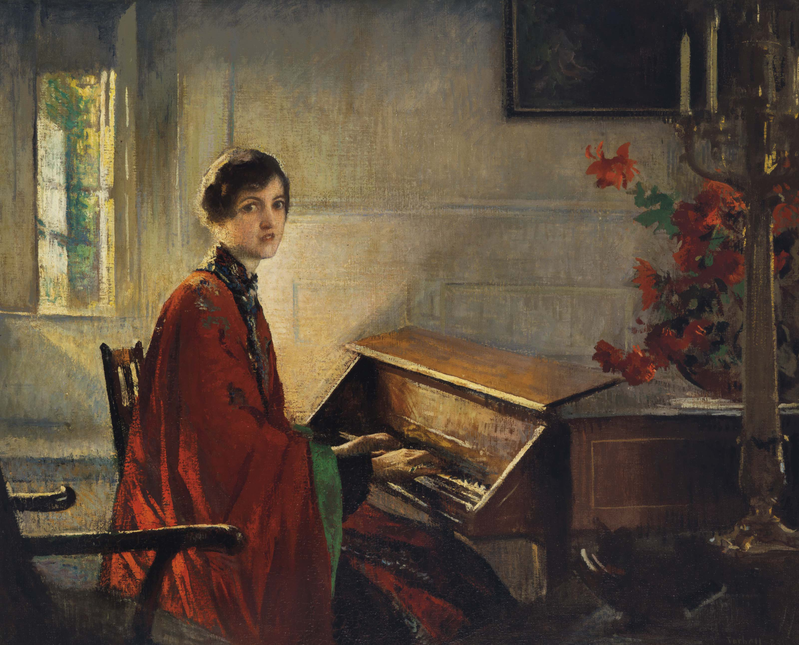 Mary at the Harpsichord