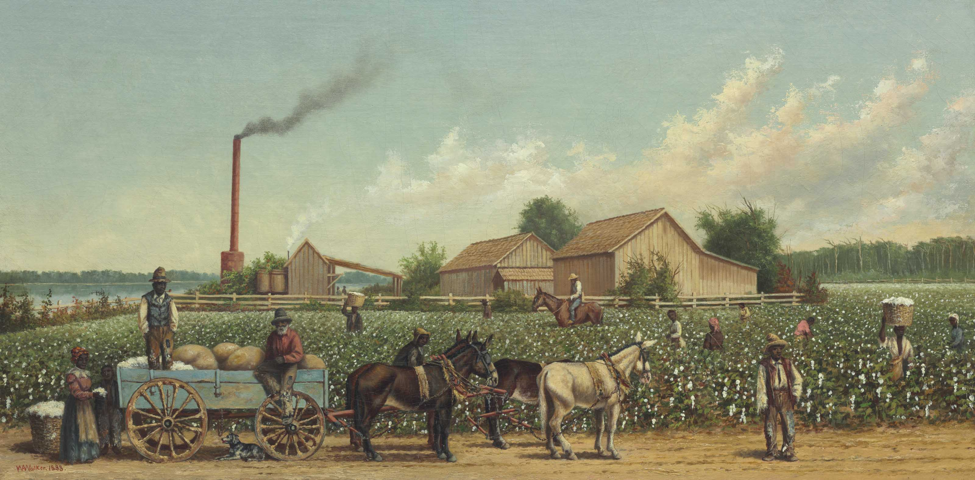 Plantation Wagon Scene