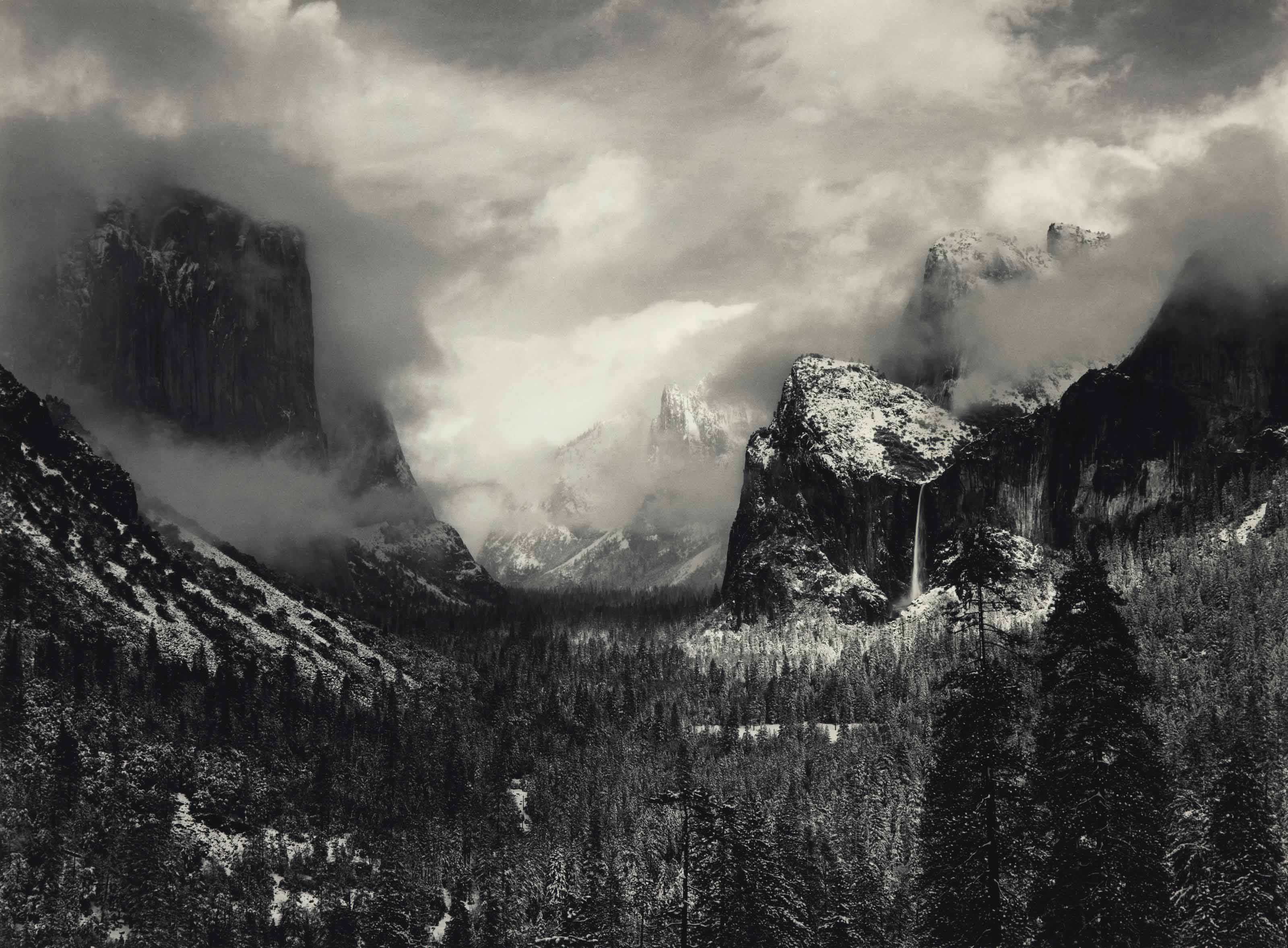 Clearing Winter Storm, Yosemite National Park, California, 1938