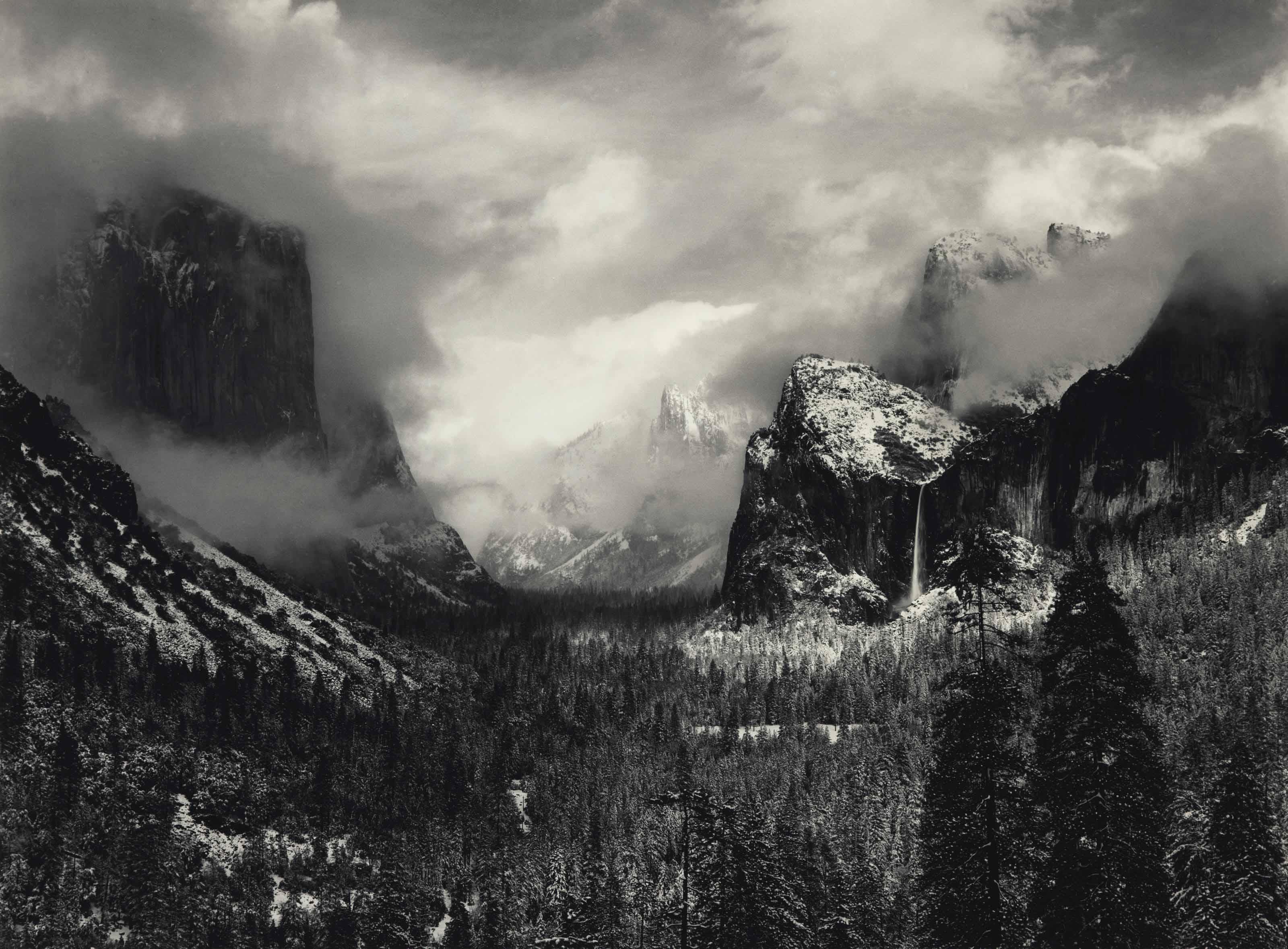 Clearing Winter Storm, Yosemite National Park, California, 1938