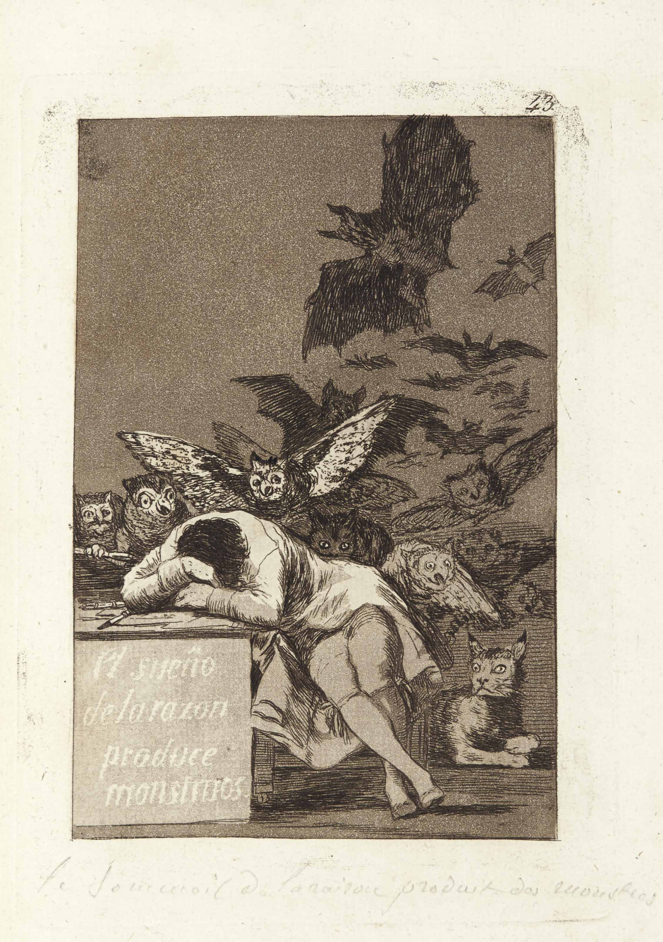 GOYA Y LUCIENTES, Francisco (1746-1828). [Los Caprichos. Madrid: probably printed by Rafael Esteve for the artist, 1799.]