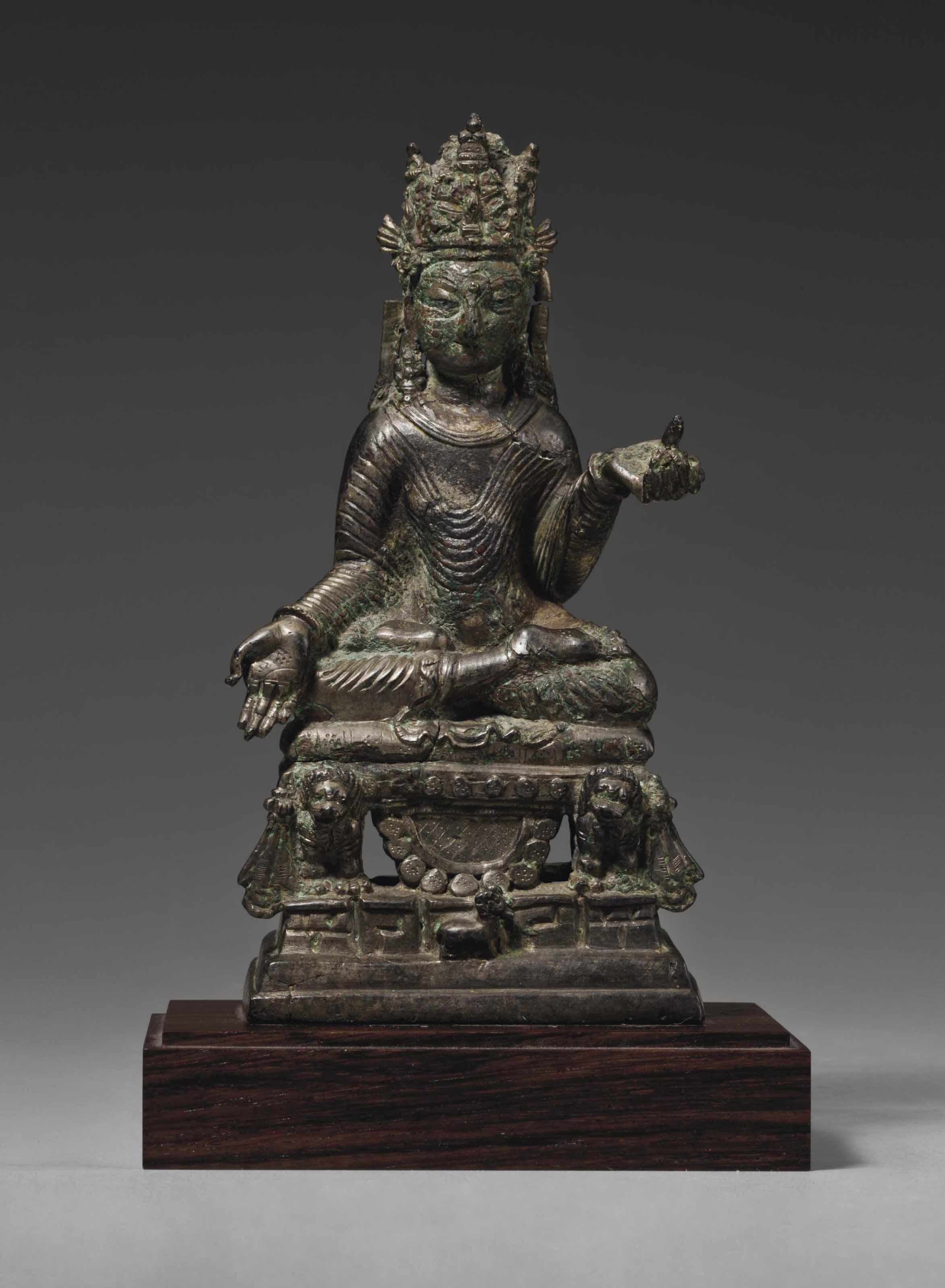 A Bronze Figure of Tathagata Ratnasambhava