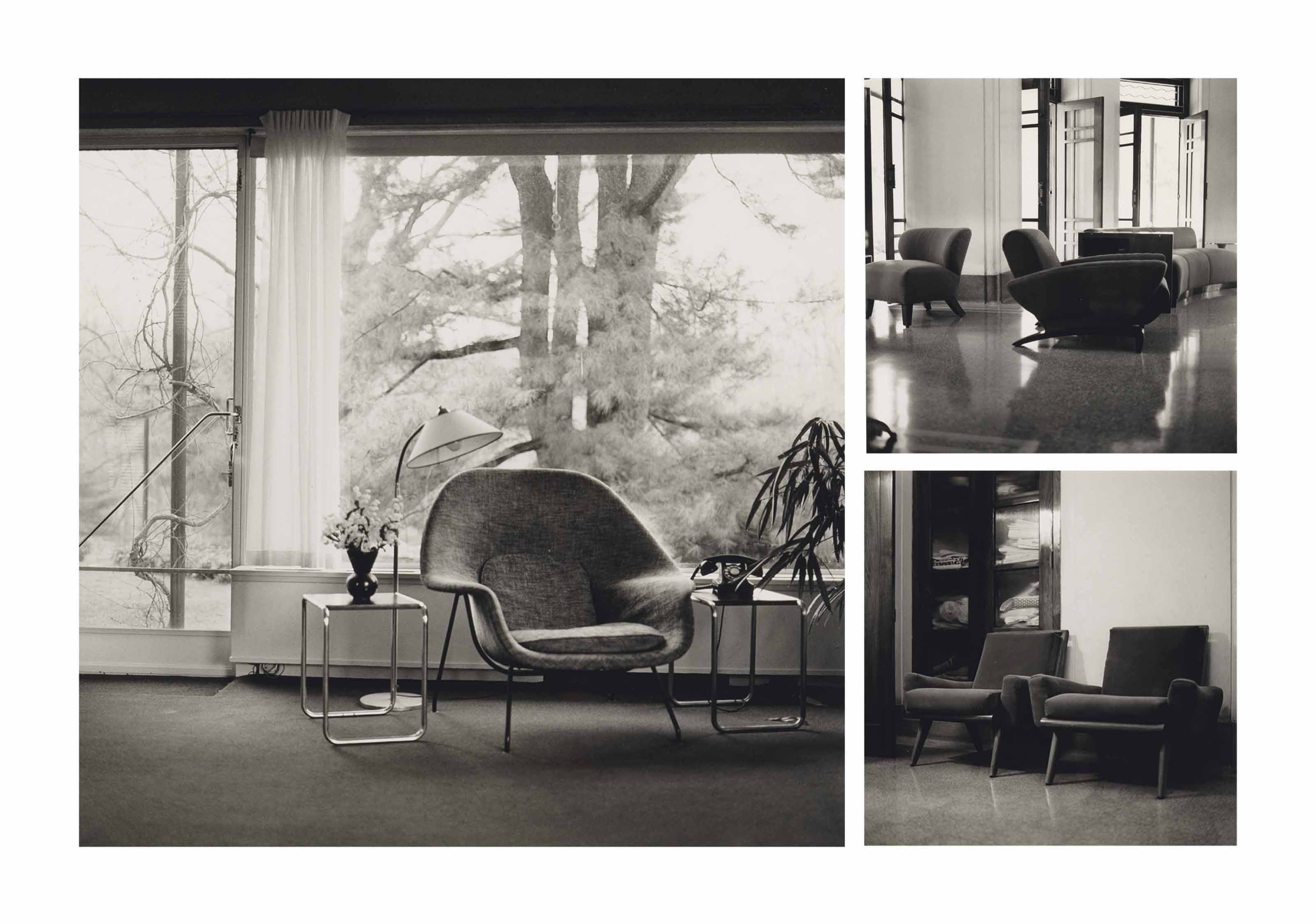 Drawing Room, Coimbatore; Linen Cupboard, Coimbatore; Gropius House Chair, Lincoln