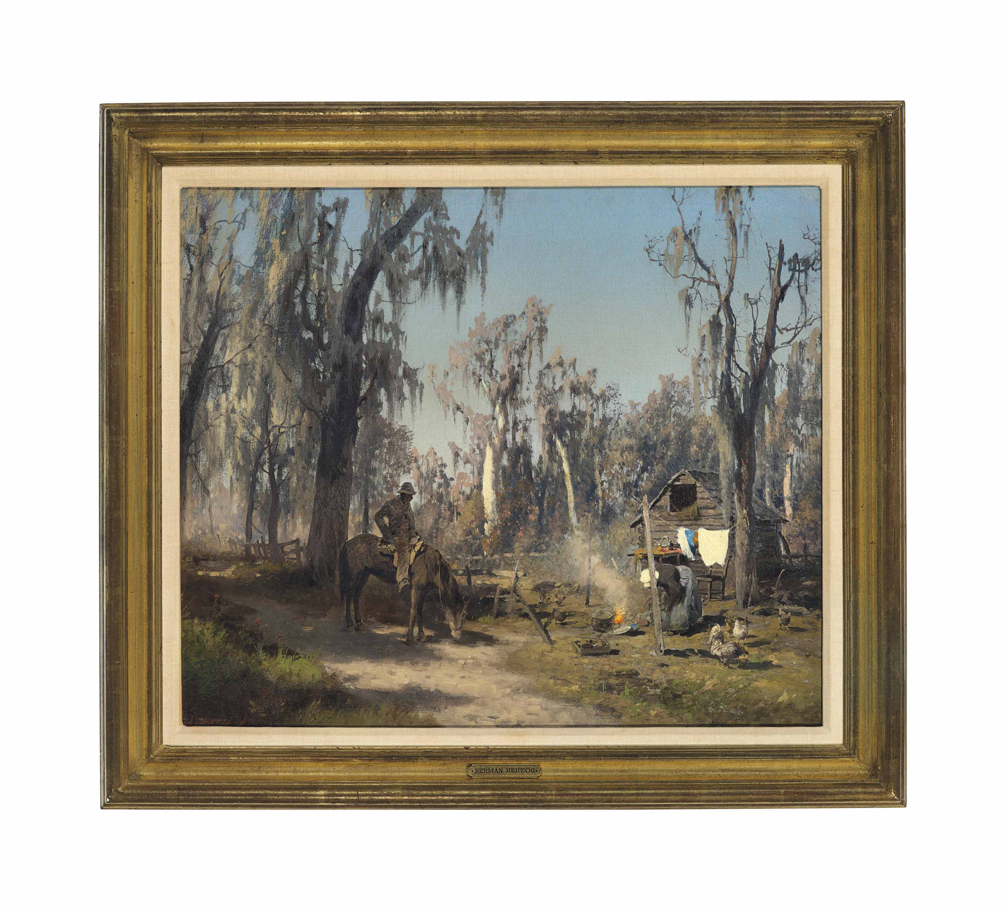 Southern Hardwood Swamp Scene