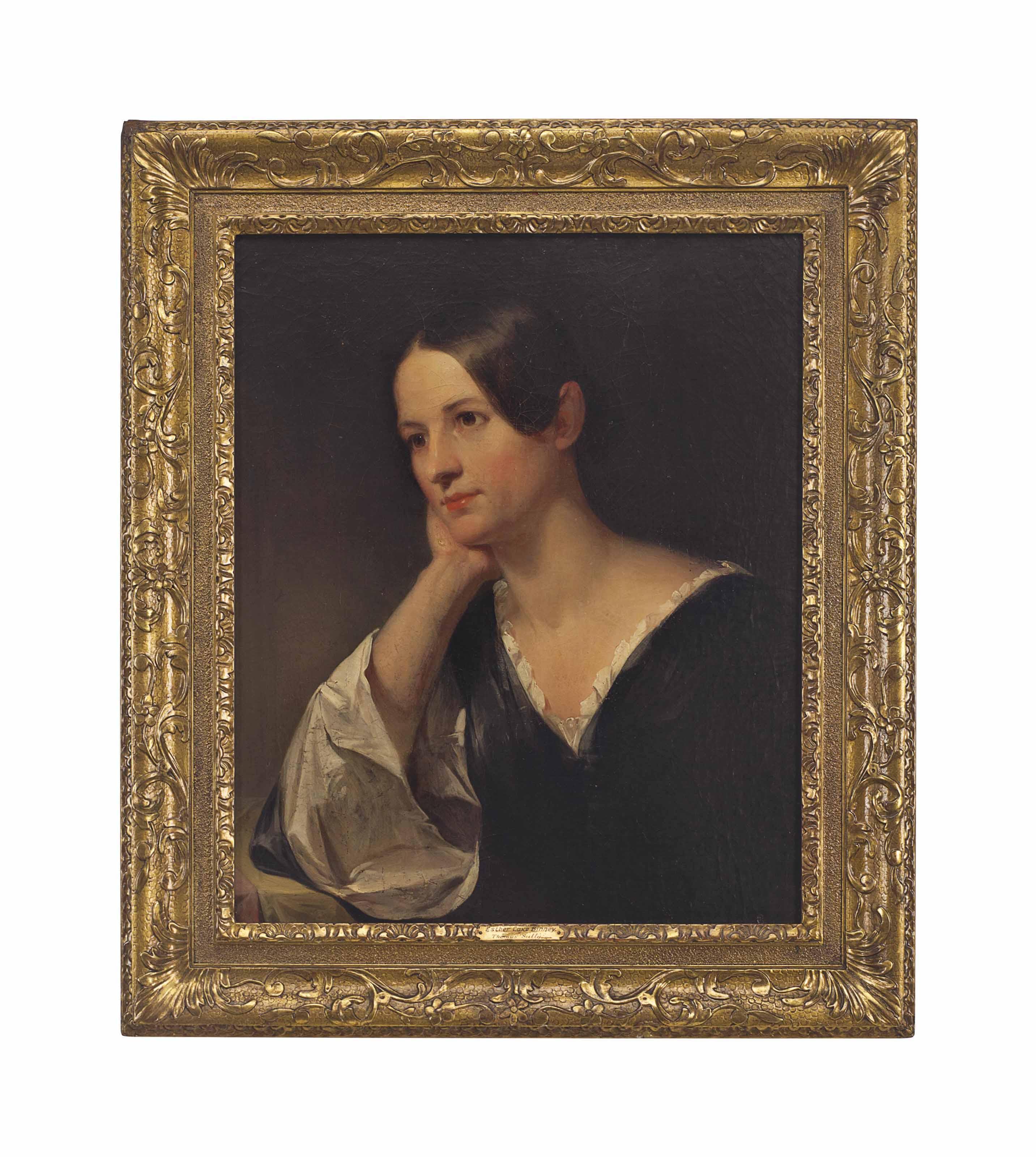 Portrait of a woman, presumably Mrs. John Bradford Wallace (Susan Binney)