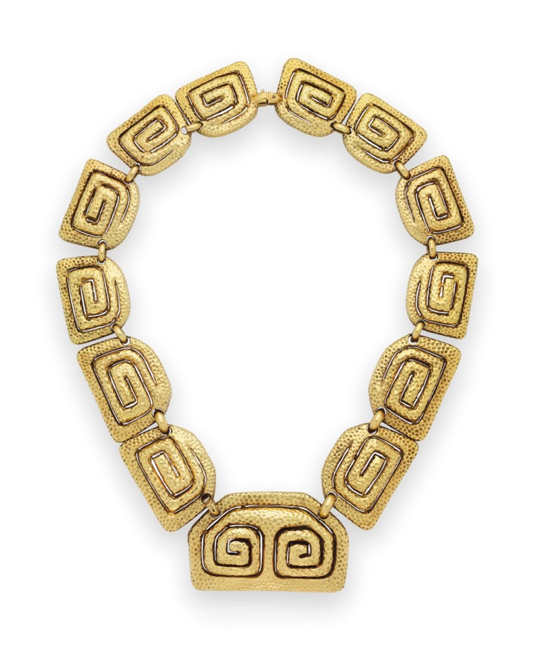 A gold necklace, by David Webb. Sold for $27,500 on 26 April 2017 at Christie's in New York