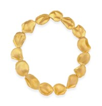 A GOLD ROSE PETAL NECKLACE, BY ANGELA CUMMINGS, TIFFANY & CO.