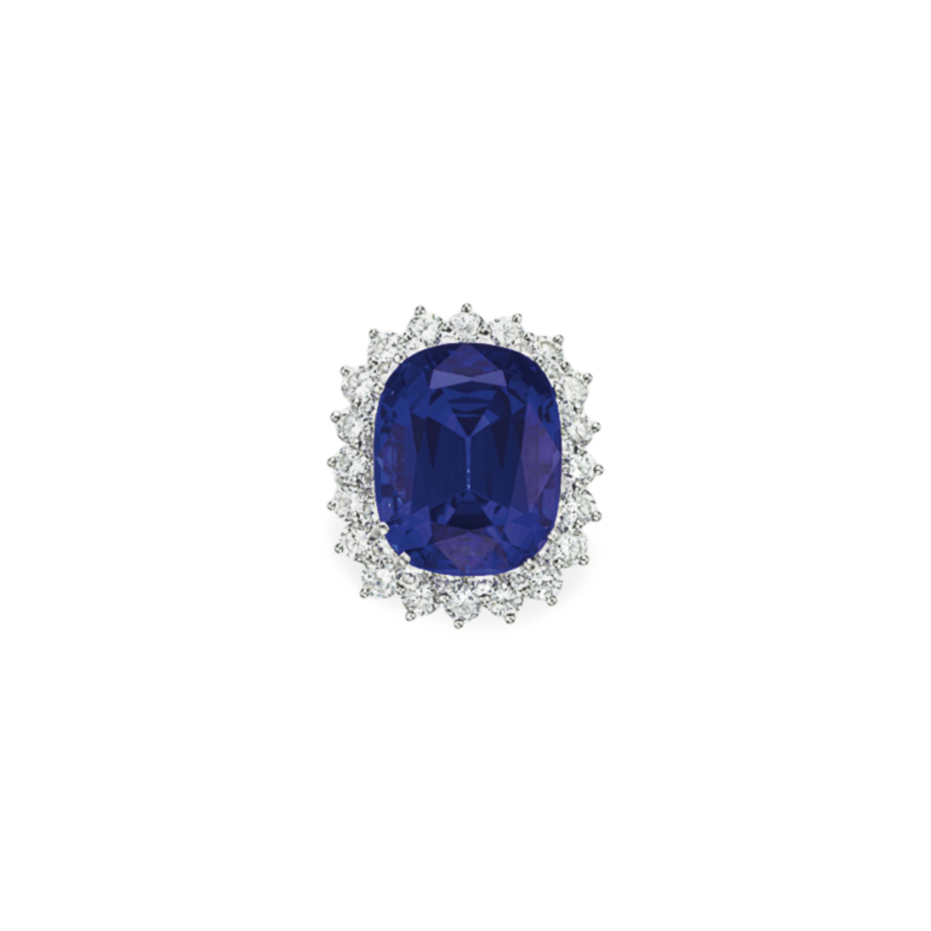 A TANZANITE AND DIAMOND RING, BY TIFFANY & CO.