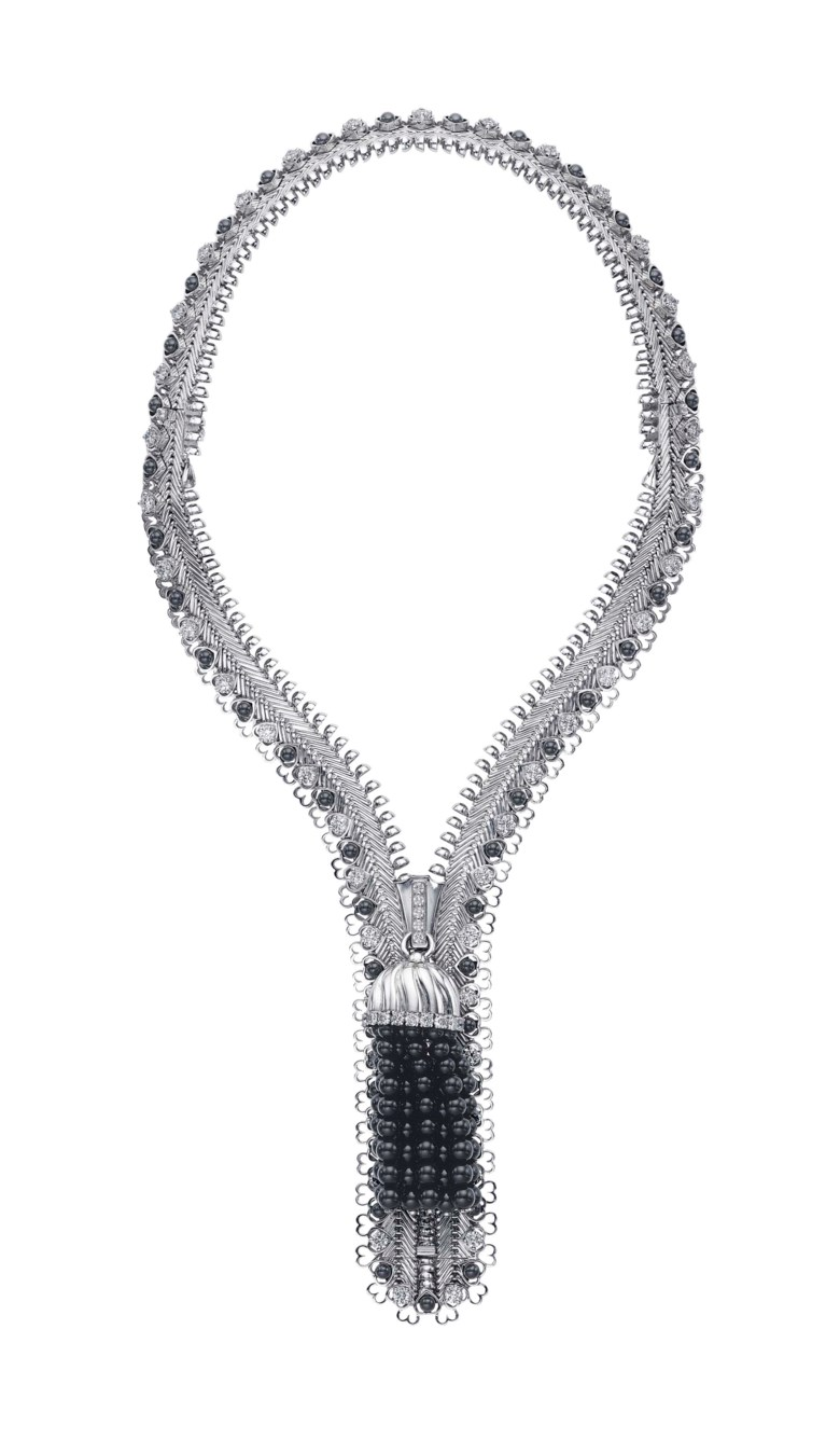 A unique diamond and onyx Zip necklace, by Van Cleef & Arpels. Sold for $307,500 on 20 June 2017  at Christie's in New York