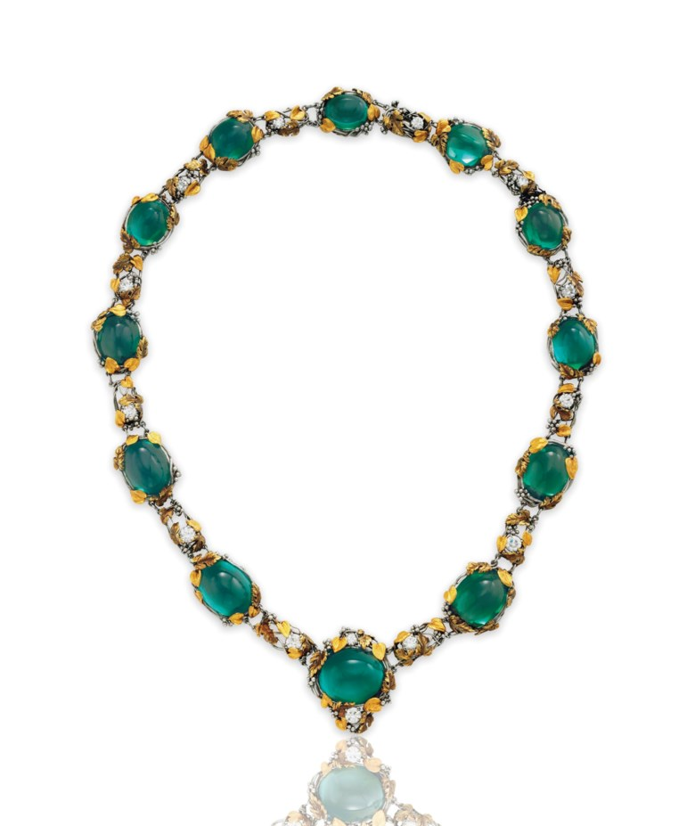 A tourmaline and diamond necklace, by Louis Comfort Tiffany, Tiffany & Co. Sold for $271,500 on 20 June 2017 at Christie's in New York