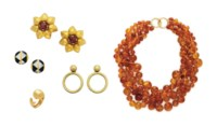 A GROUP OF MULTI-GEM AND GOLD JEWELRY, BY TIFFANY & CO.