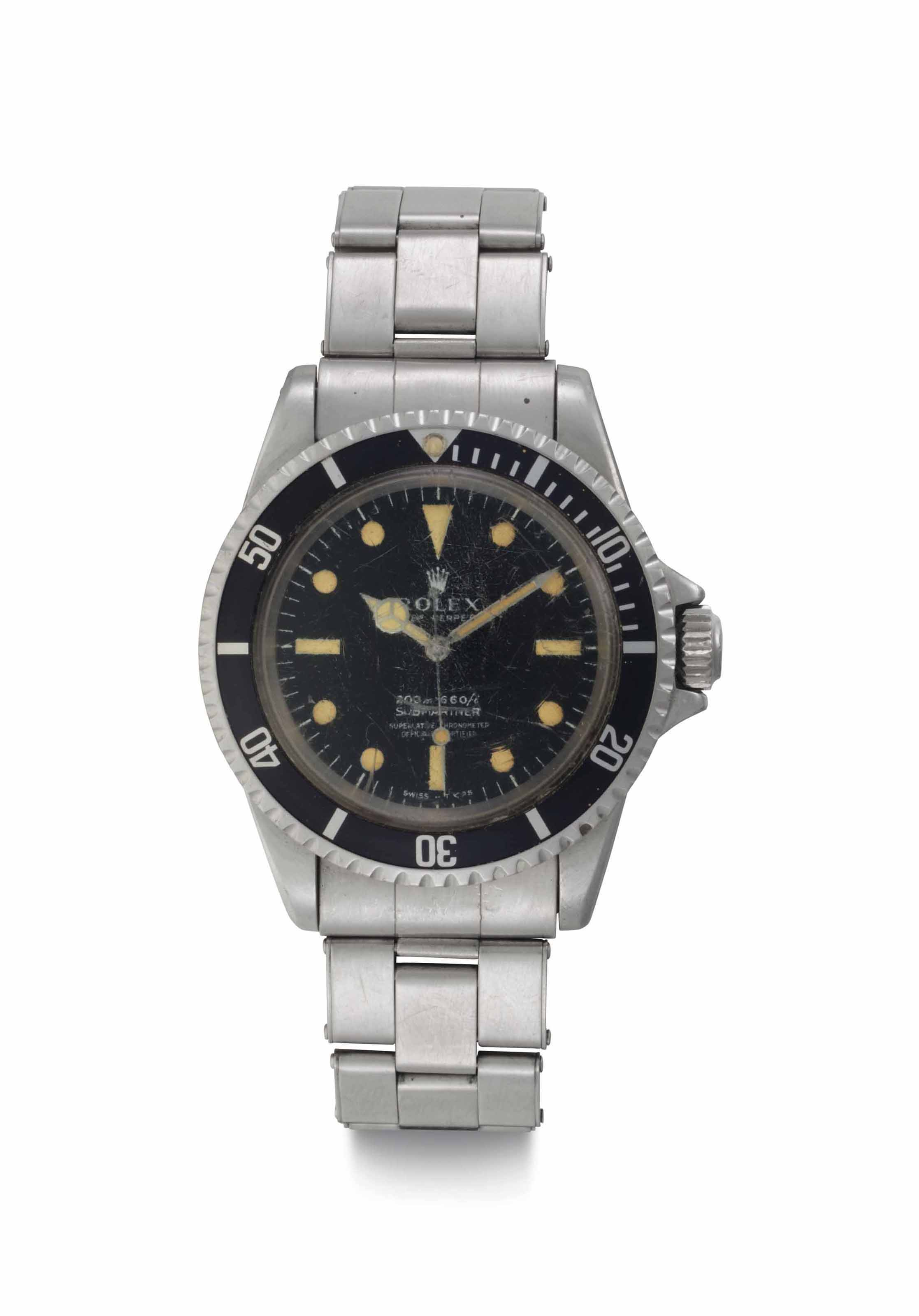 Rolex. A Fine Stainless Steel Automatic Wristwatch with Center Seconds and Bracelet, Worn by Scientist John VanDerwalker